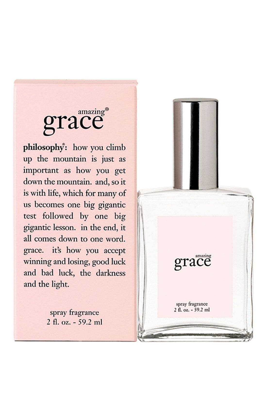 PHILOSOPHY, 'amazing grace' eau de toilette spray, Alternate thumbnail 2, color, NO COLOR