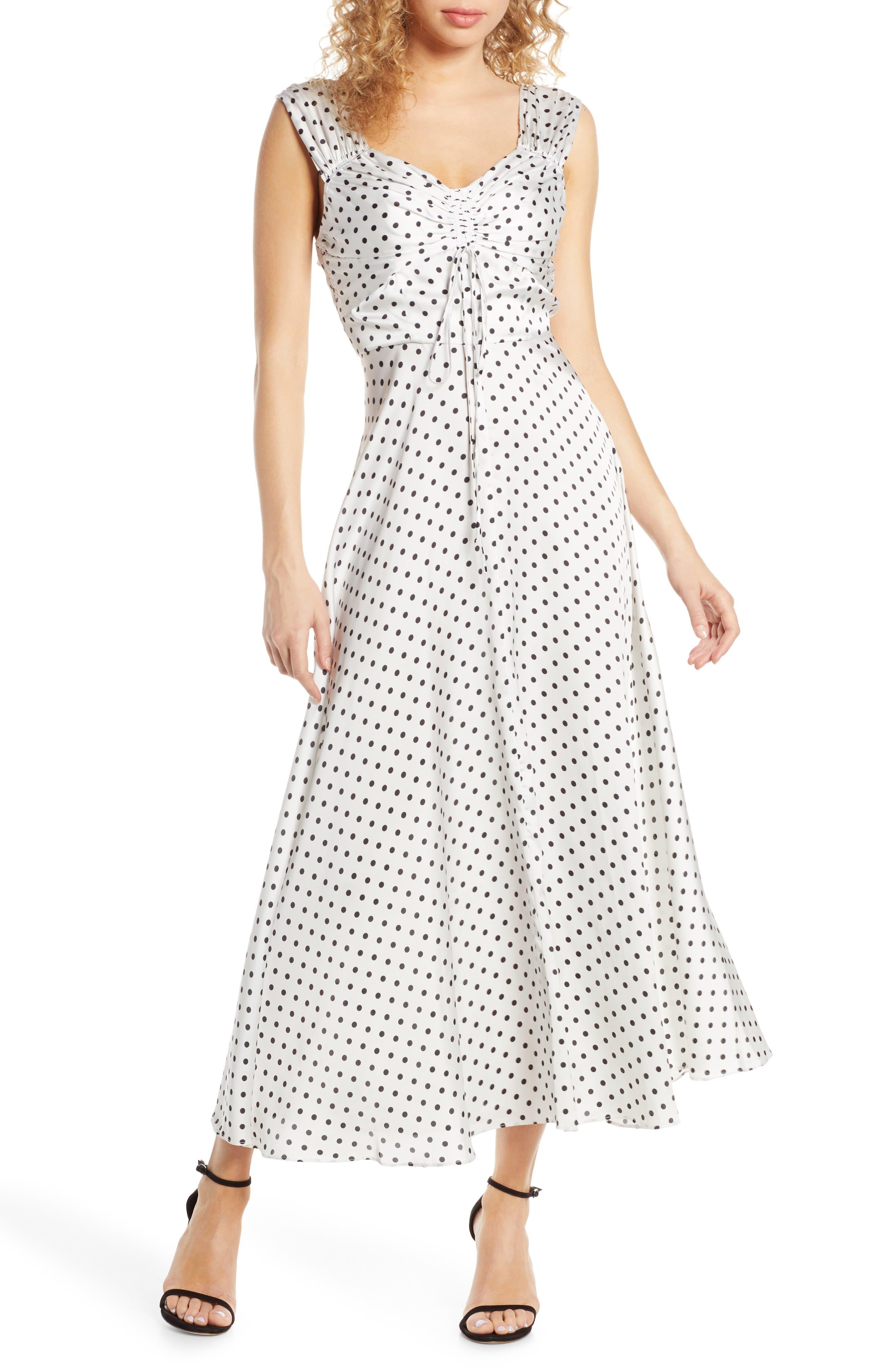Jill Jill Stuart Dot Print Dress, Black