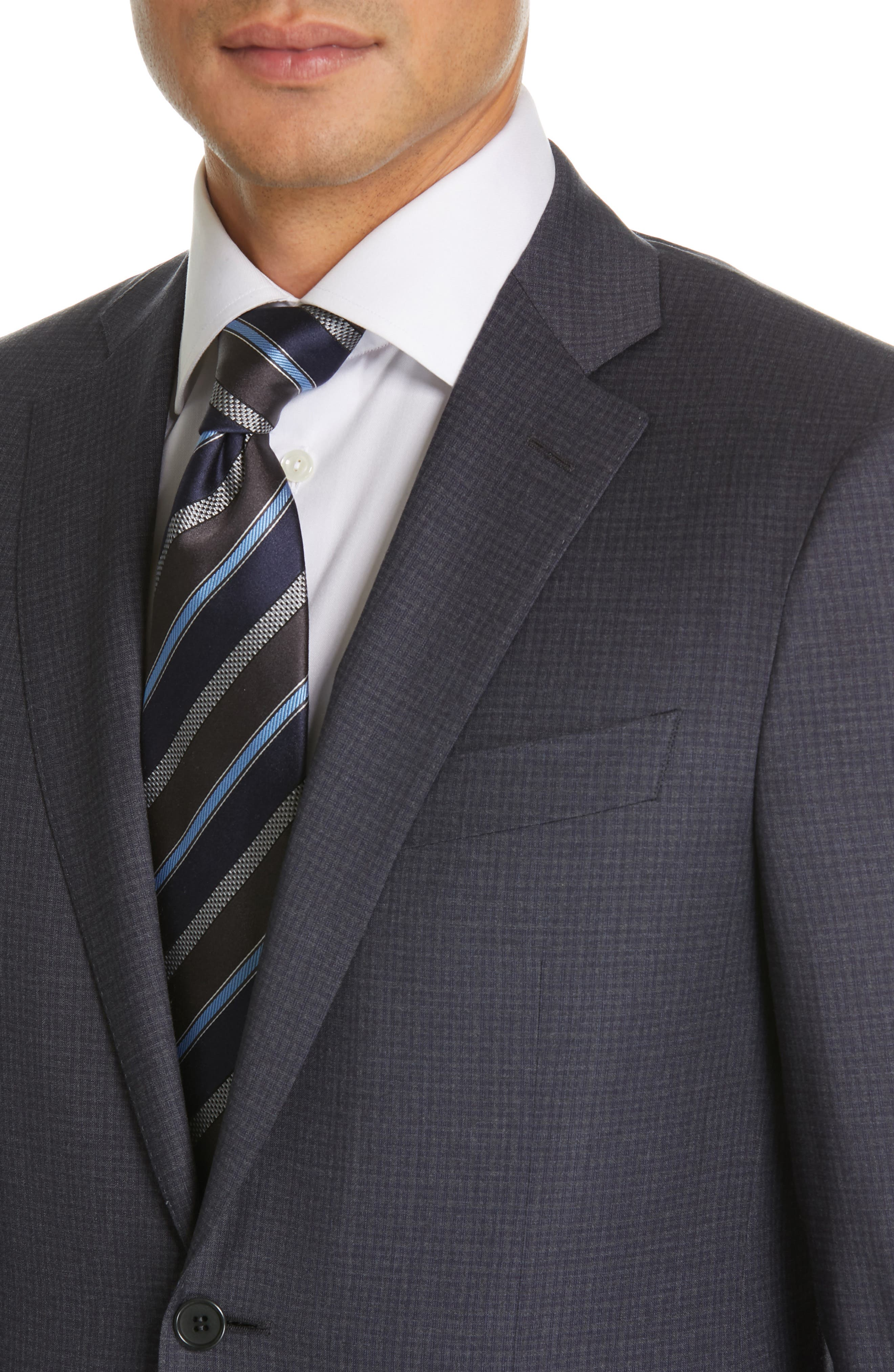 CANALI, Milano Classic Fit Check Wool Suit, Alternate thumbnail 4, color, CHARCOAL