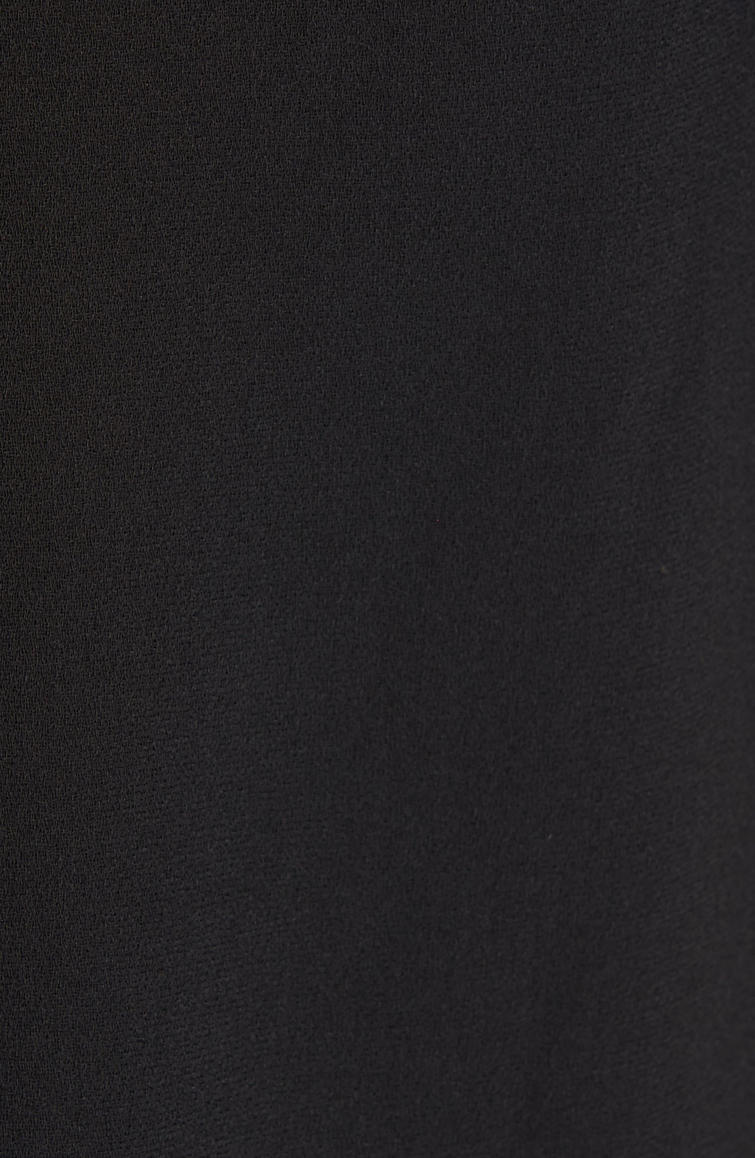 TED BAKER LONDON, Lace Panel Bell Sleeve Tunic Dress, Alternate thumbnail 6, color, BLACK