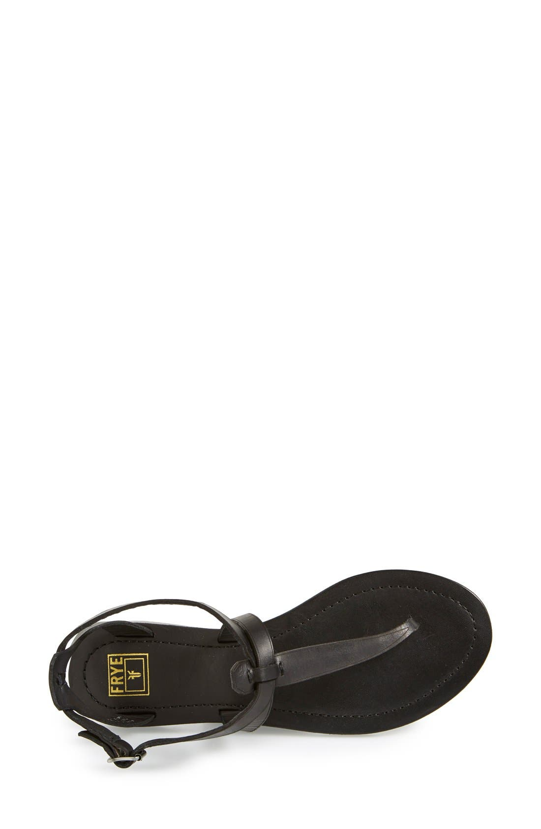 FRYE, 'Rachel' T-Strap Sandal, Alternate thumbnail 3, color, 001