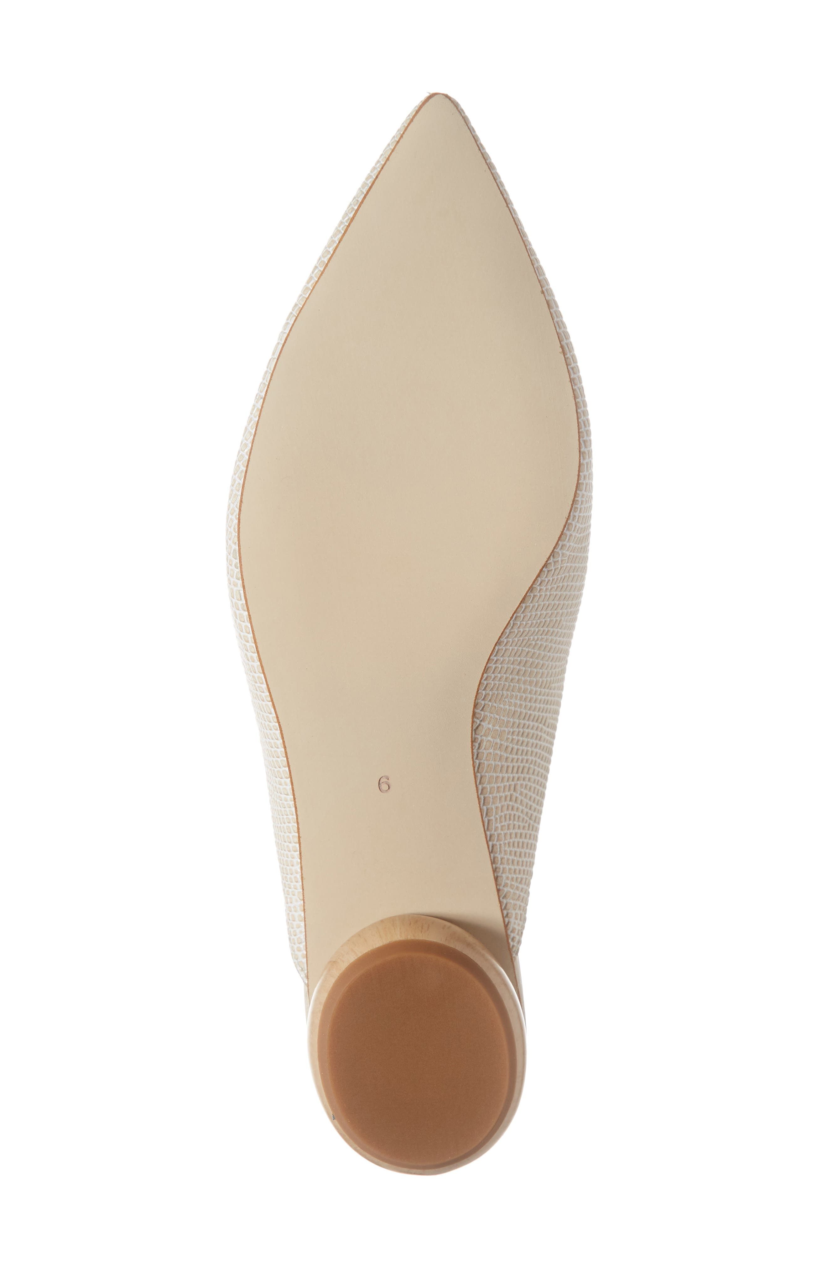 JEFFREY CAMPBELL, Vionit Lizard Embossed Loafer Mule, Alternate thumbnail 6, color, BEIGE LIZARD PRINT