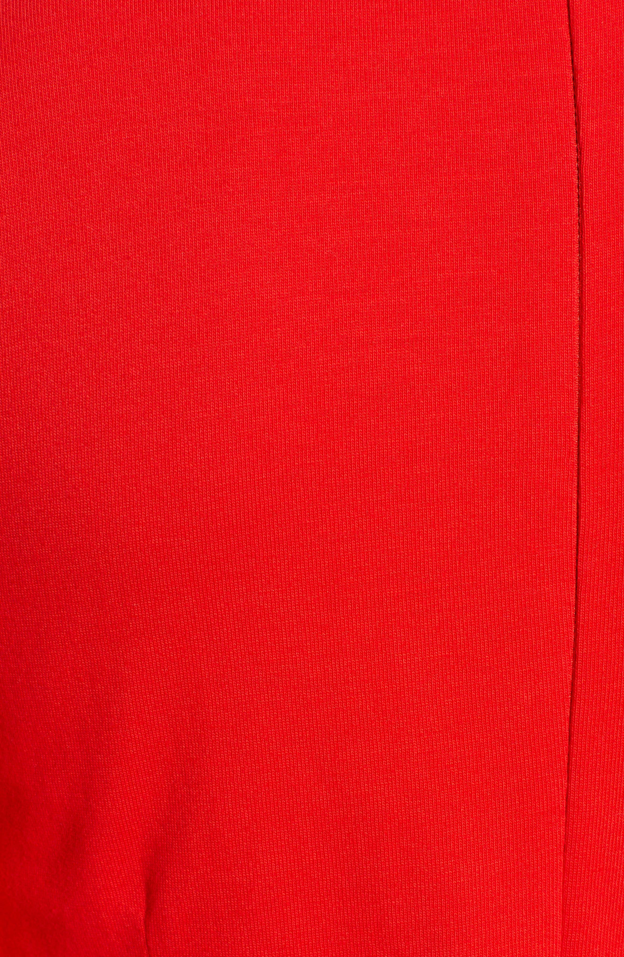 J.CREW, Knit Sheath Dress, Alternate thumbnail 8, color, BRIGHT CERISE