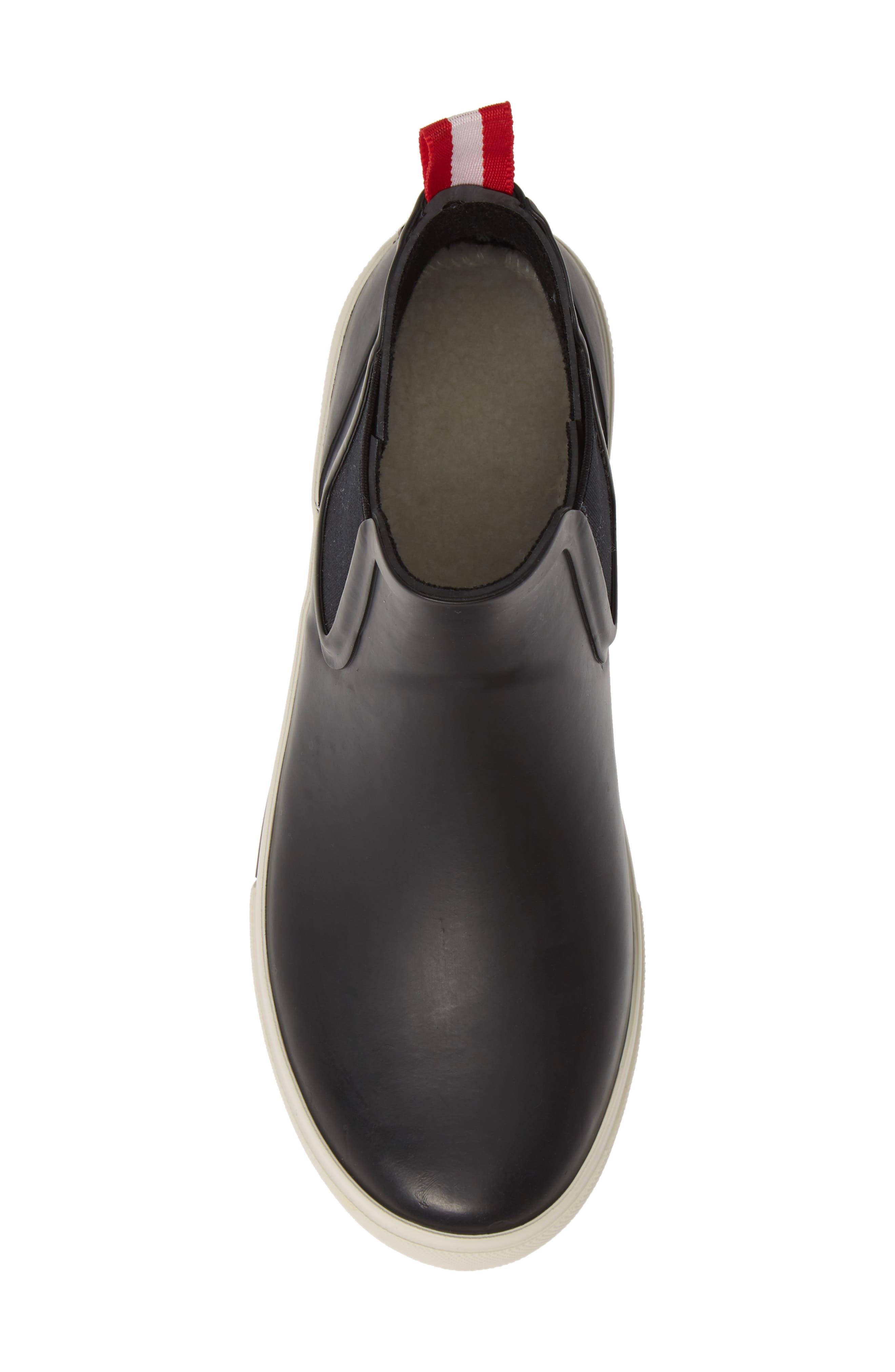 JOULES, Rainwell Waterproof Chelsea Rain Boot, Alternate thumbnail 5, color, BLACK