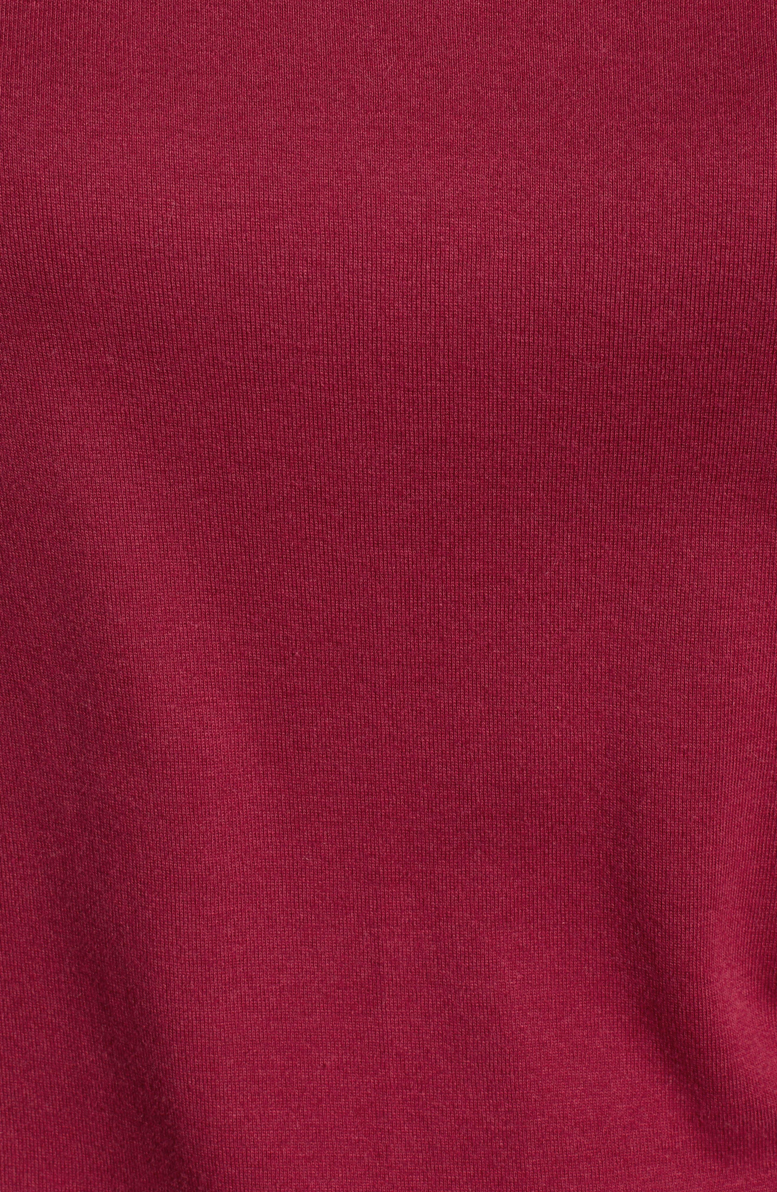 CASLON<SUP>®</SUP>, Sweatshirt, Alternate thumbnail 5, color, RED RUMBA