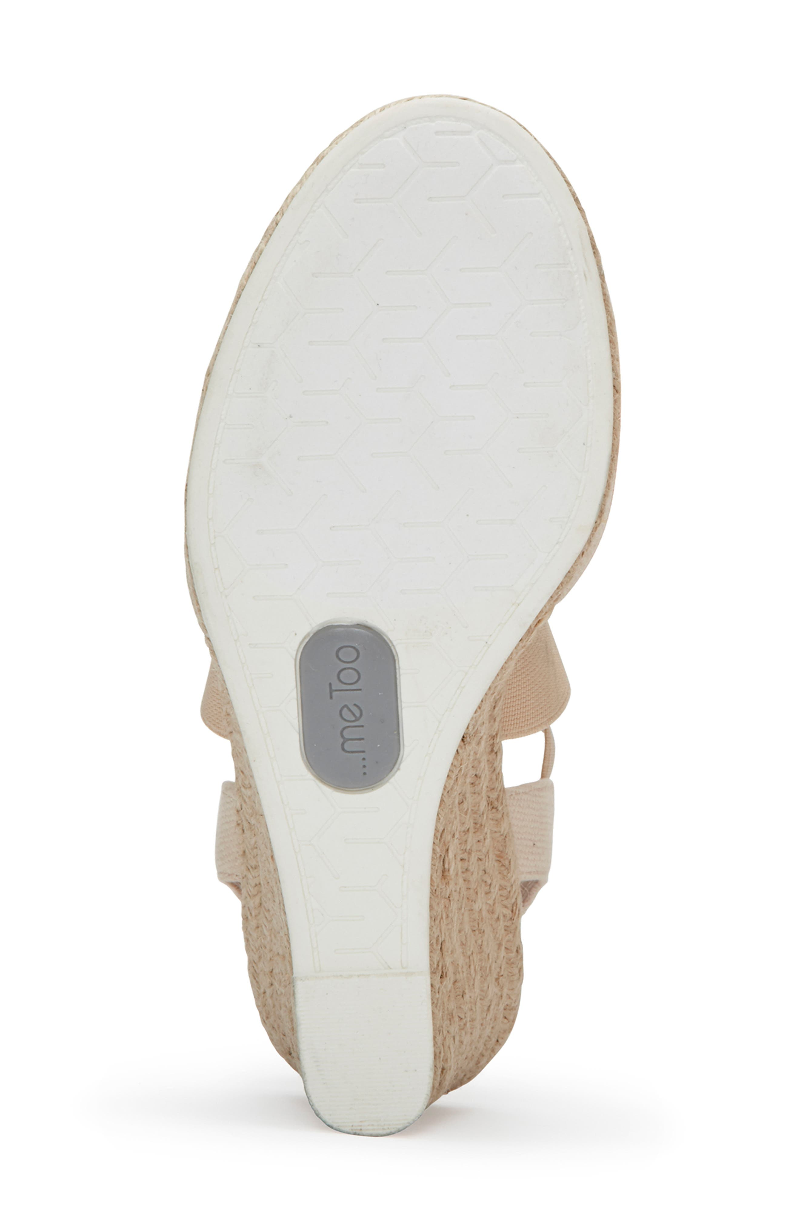 ME TOO, Brinley Espadrille Wedge, Alternate thumbnail 6, color, NATURAL CANVAS