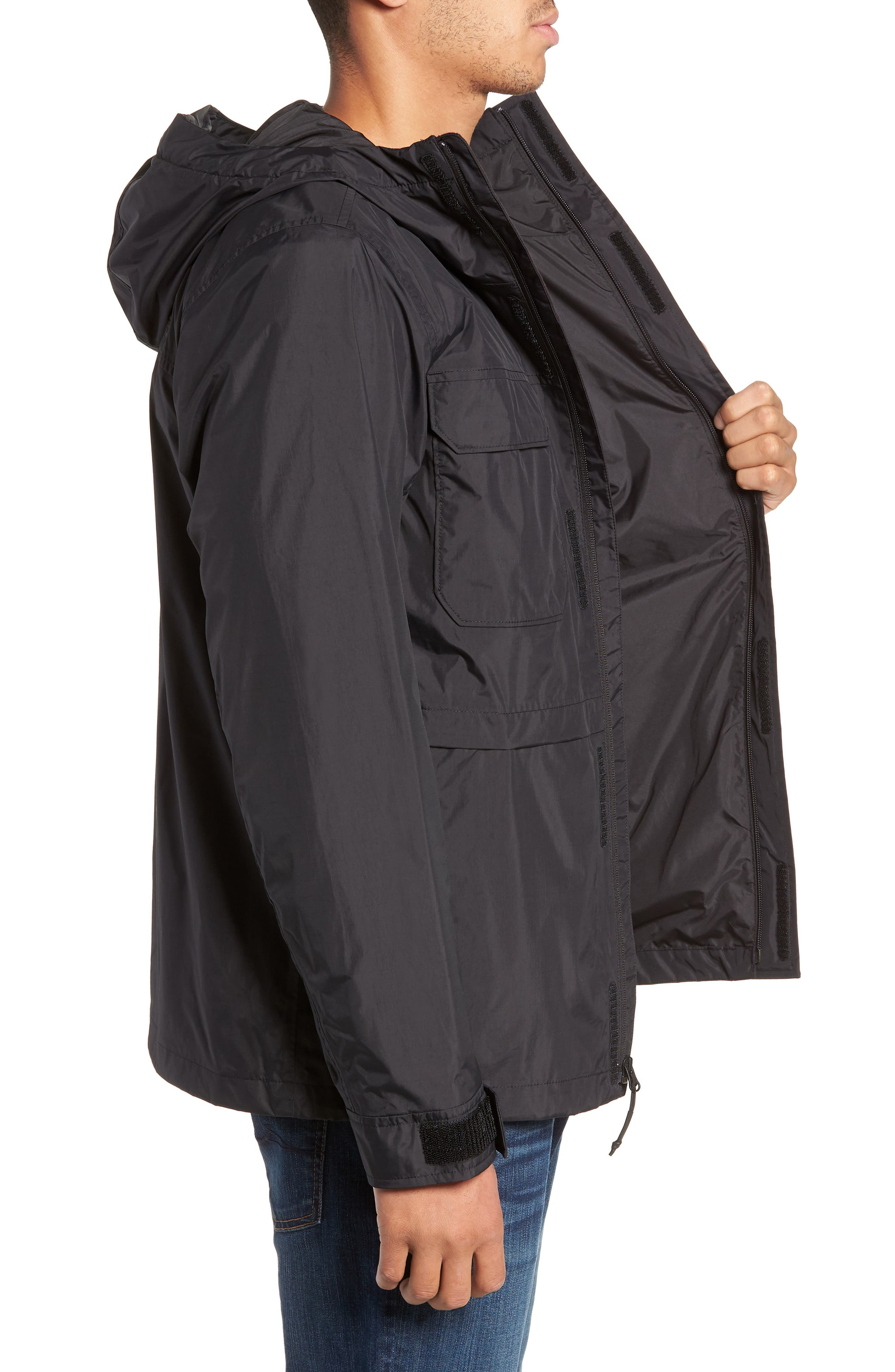THE NORTH FACE, Zoomie Rain Jacket, Alternate thumbnail 4, color, 001
