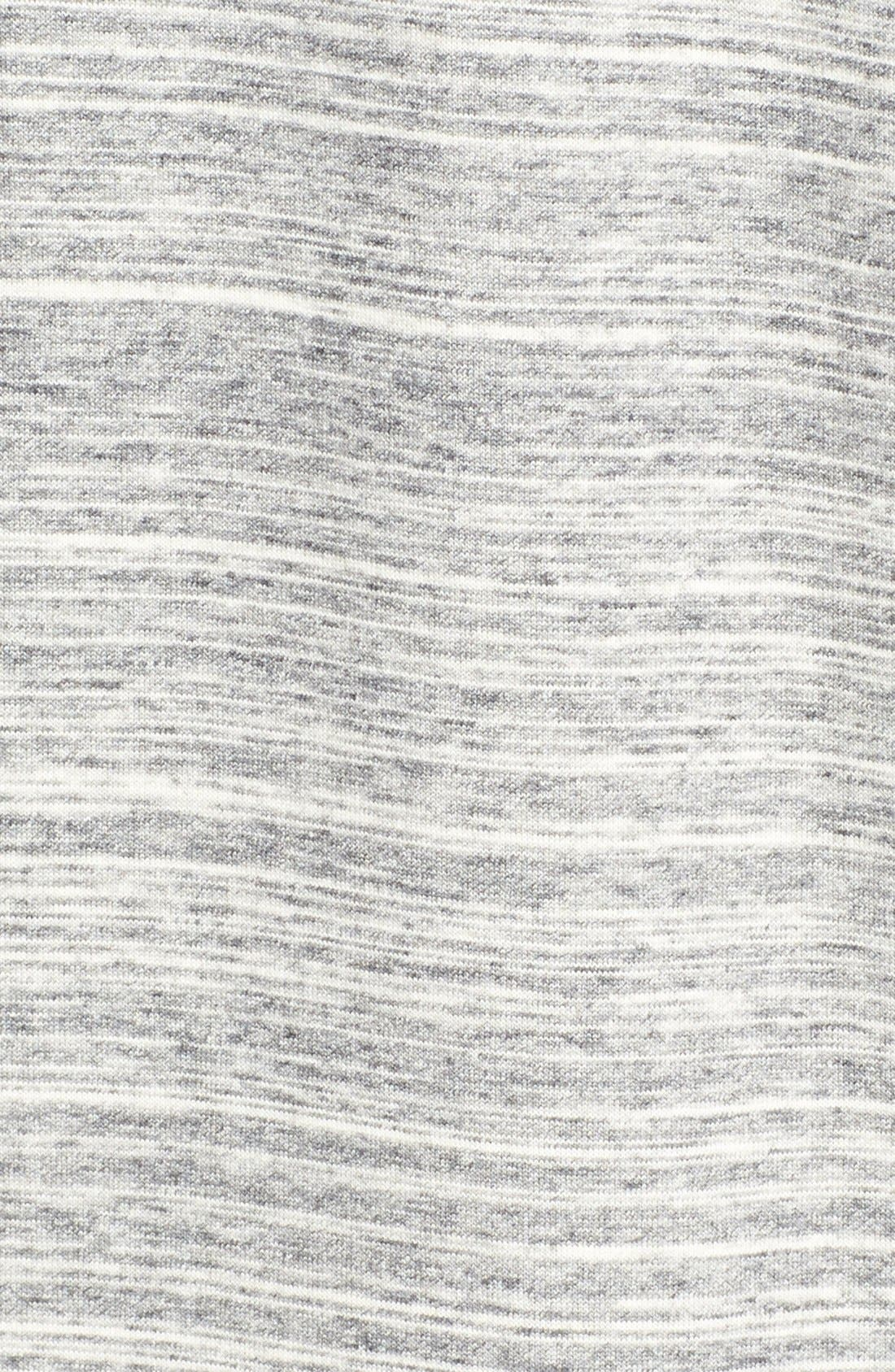 VINCE, Rib Trim Mélange Dress, Alternate thumbnail 5, color, 022