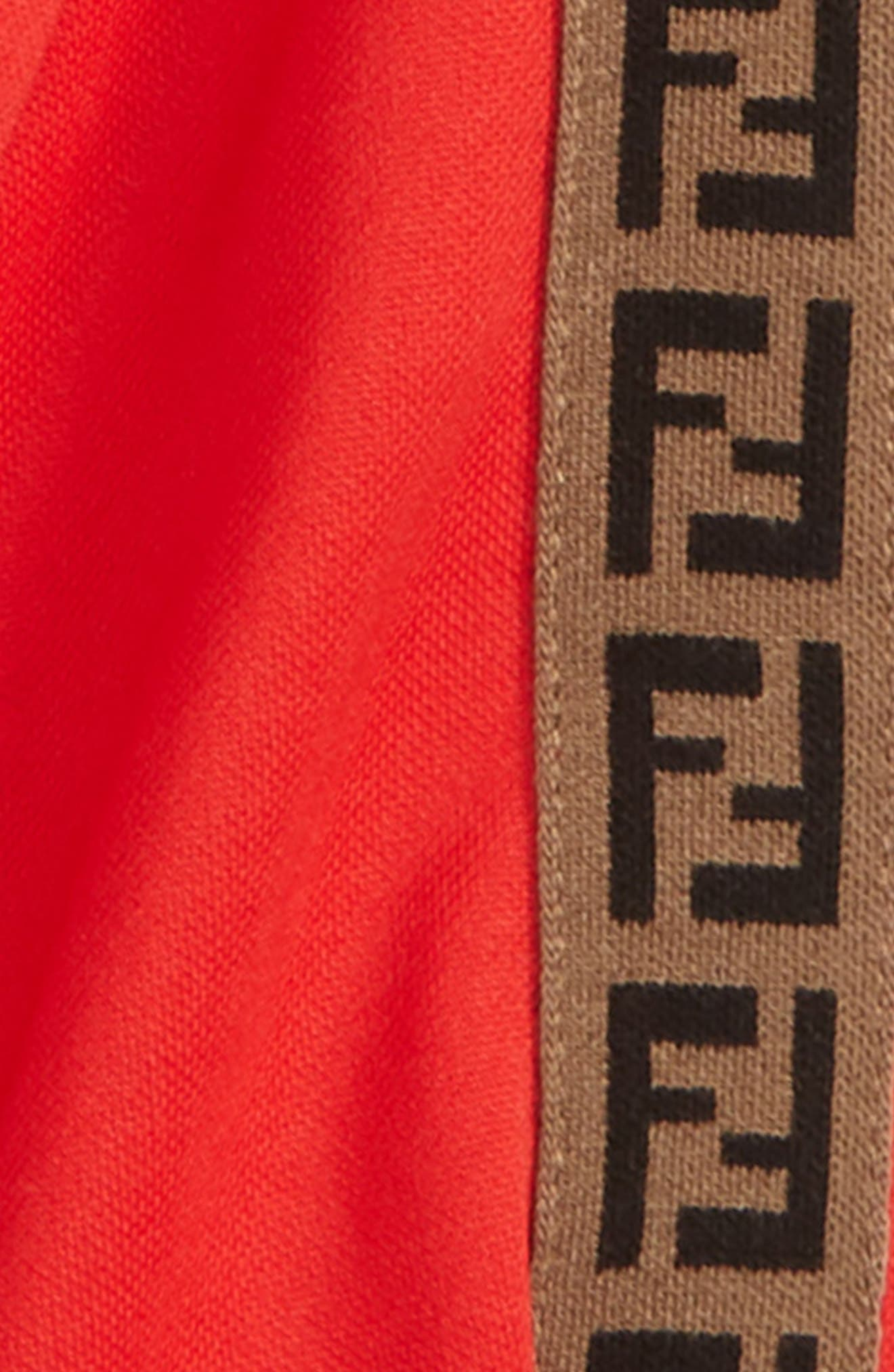 FENDI, Double-F Logo Track Jacket, Alternate thumbnail 2, color, F0QC9 RED