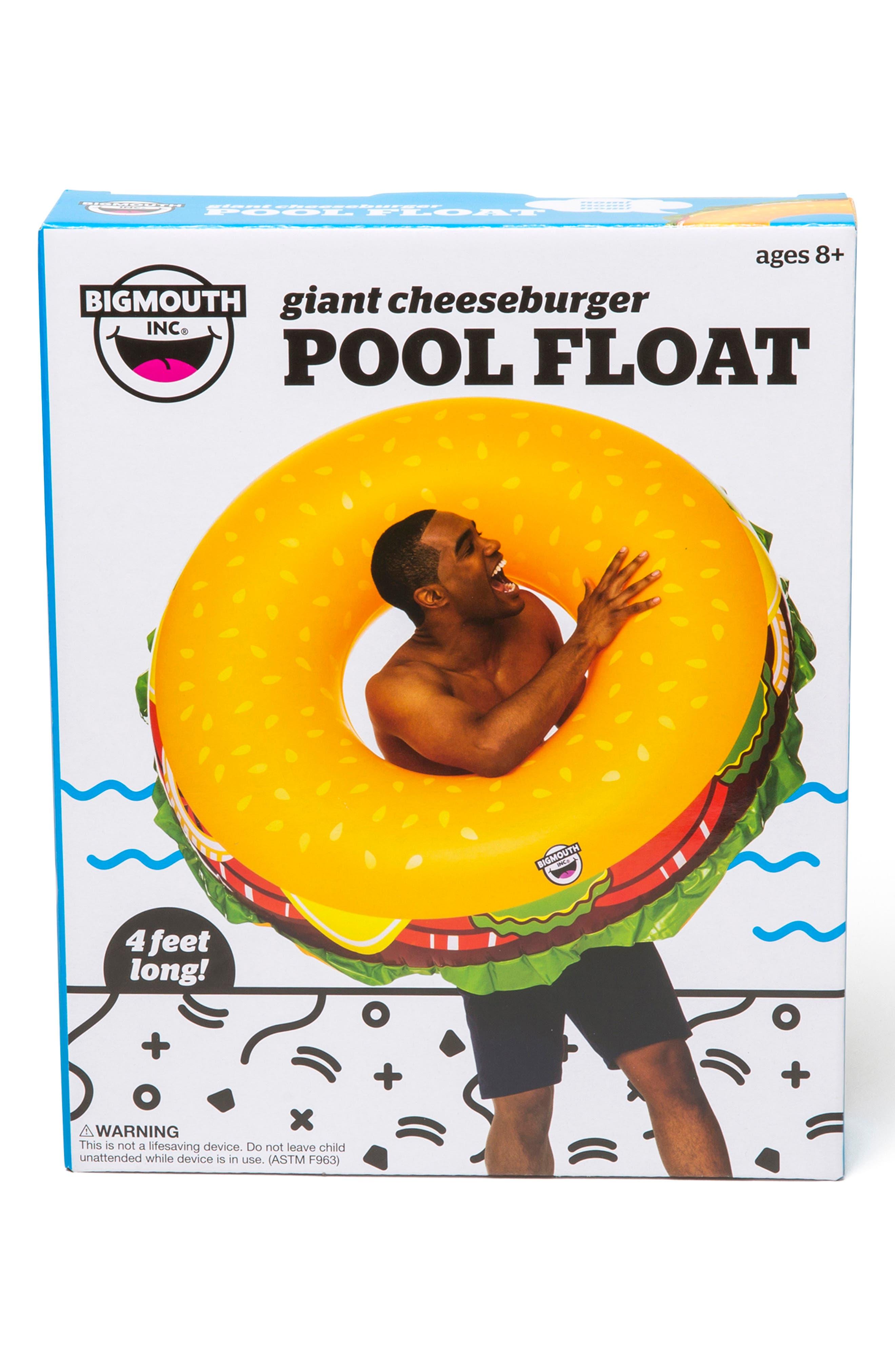 BIGMOUTH INC, Cheeseburger Pool Float, Alternate thumbnail 2, color, MULTI