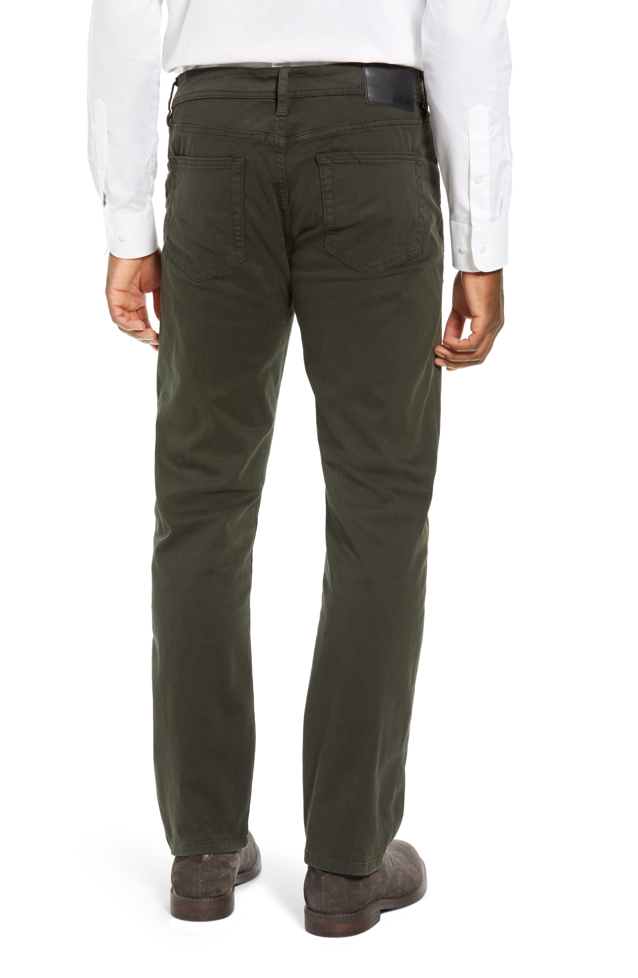 LIVERPOOL, Regent Relaxed Straight Leg Twill Pants, Alternate thumbnail 2, color, OLIVE MULCH