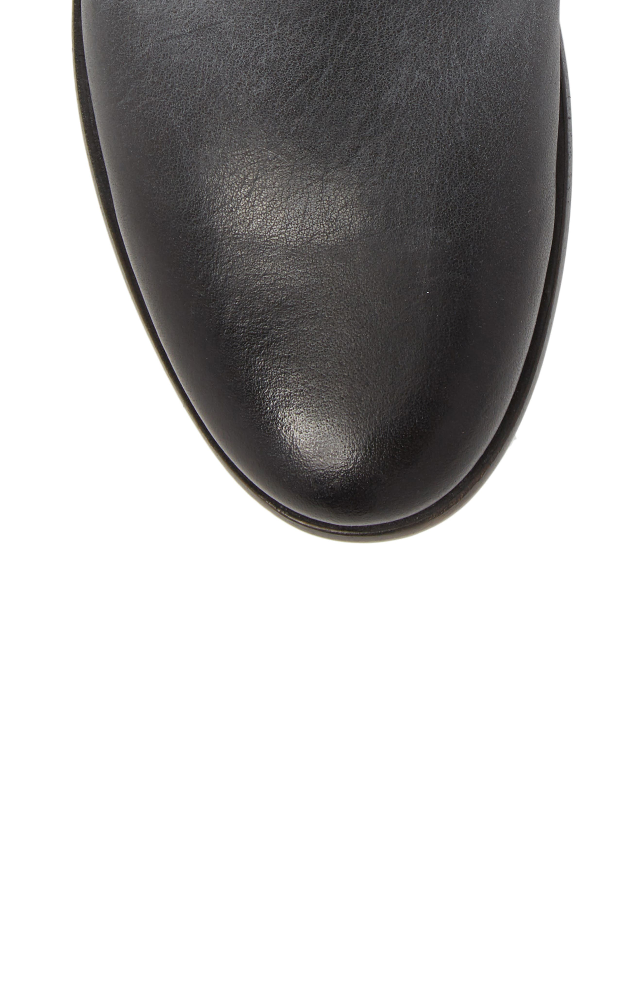 FRYE, Carly Chelsea Boot, Alternate thumbnail 5, color, BLACK ANTIQUED LEATHER