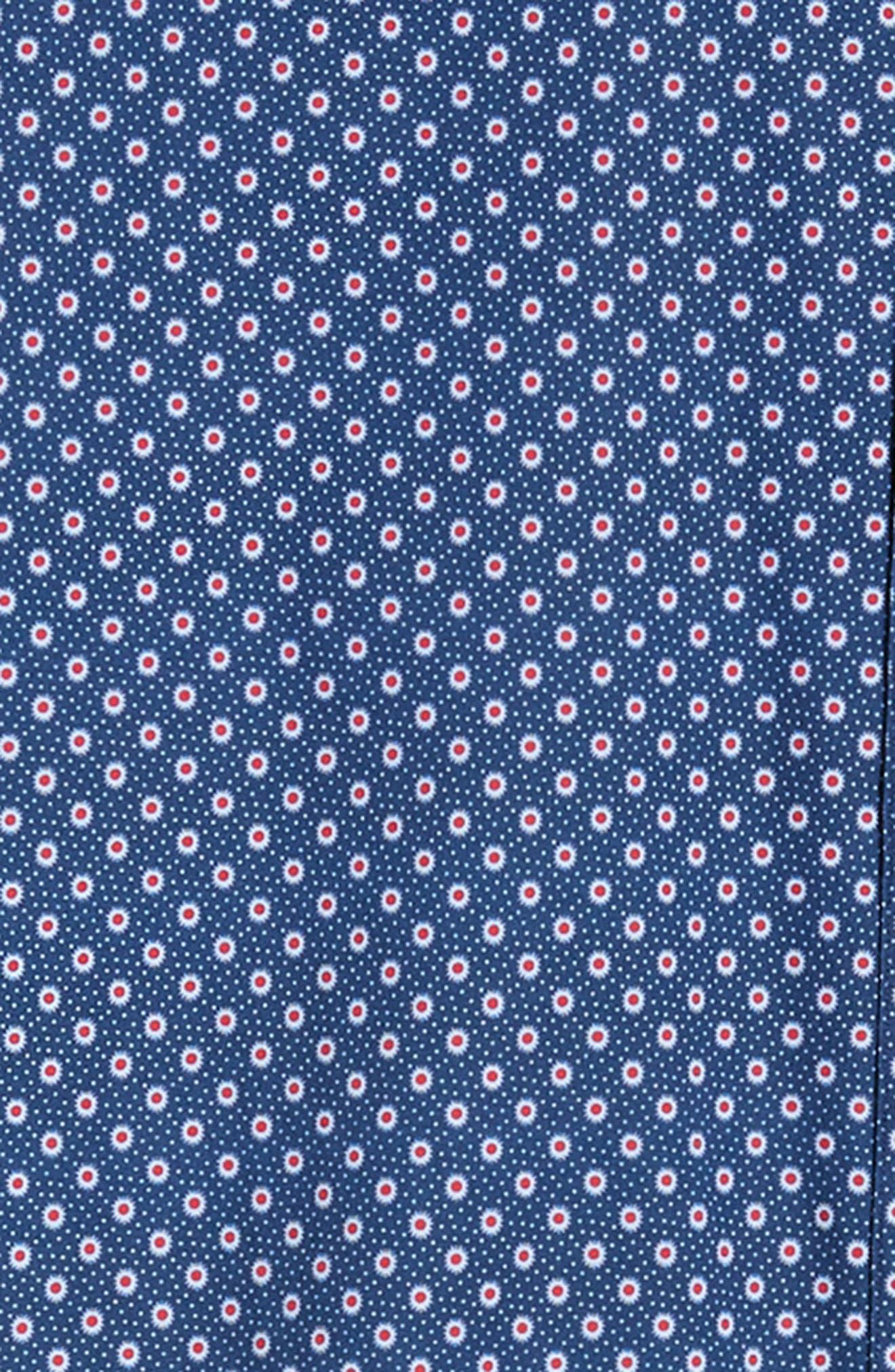 ZACHARY PRELL, Murray Regular Fit Print Sport Shirt, Alternate thumbnail 6, color, BLUE