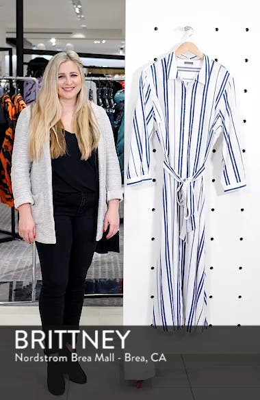 Valiant Stripe Midi Shirtdress, sales video thumbnail