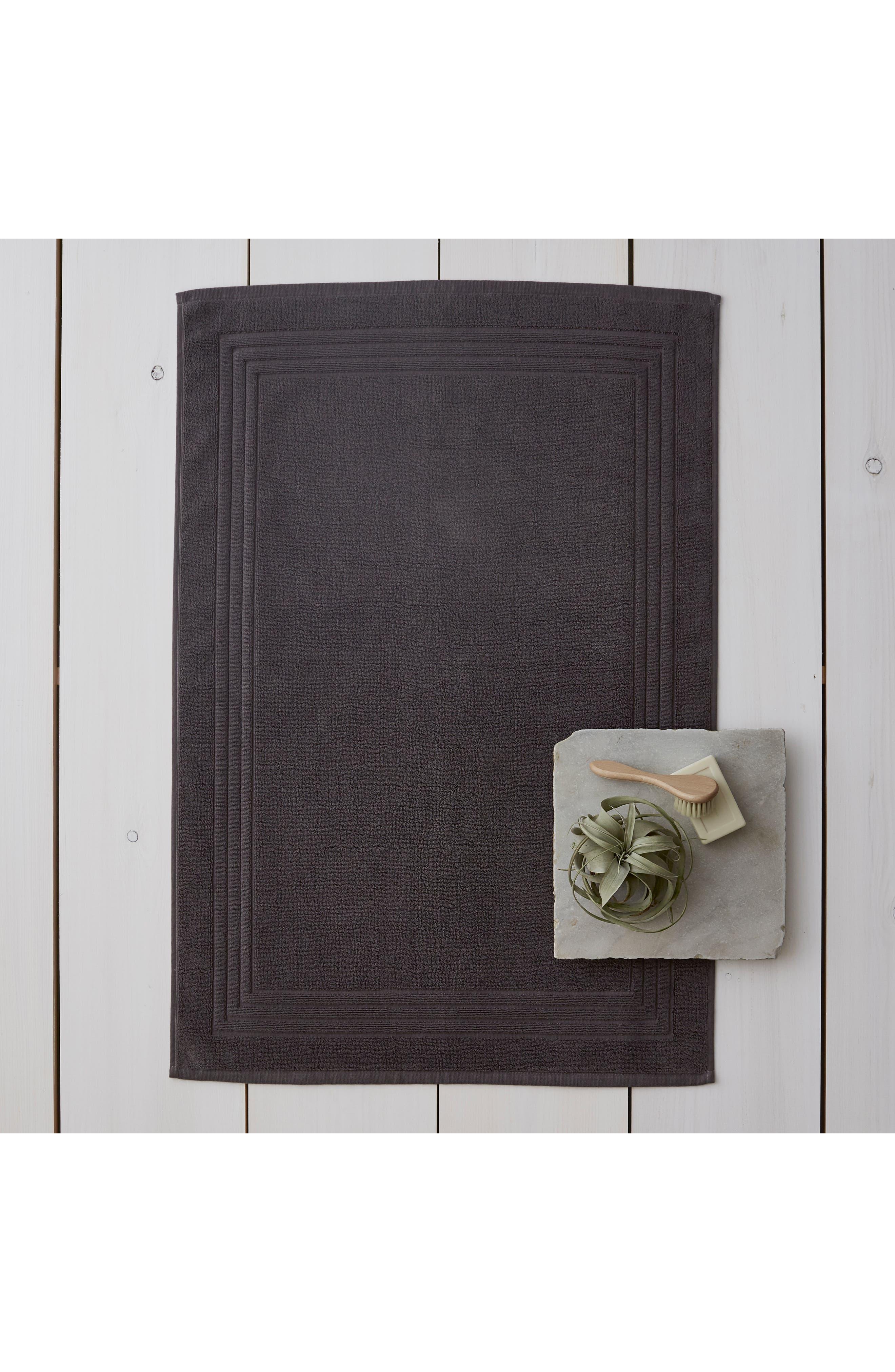 THE WHITE COMPANY, Egyptian Cotton Bath Mat, Main thumbnail 1, color, SLATE