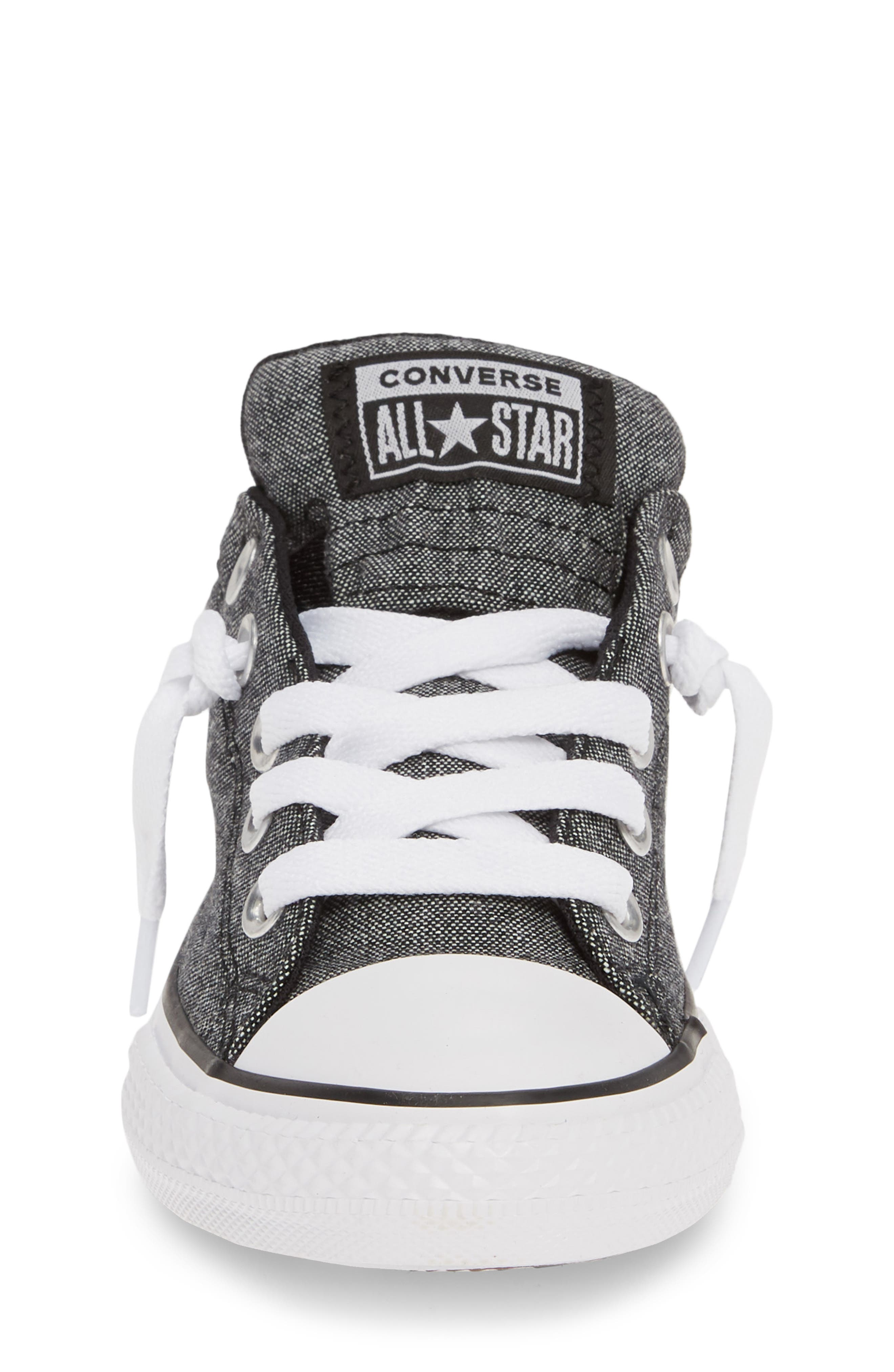 CONVERSE, Chuck Taylor<sup>®</sup> All Star<sup>®</sup> Street Sneaker, Alternate thumbnail 4, color, BLACK/ BLACK/ WHITE