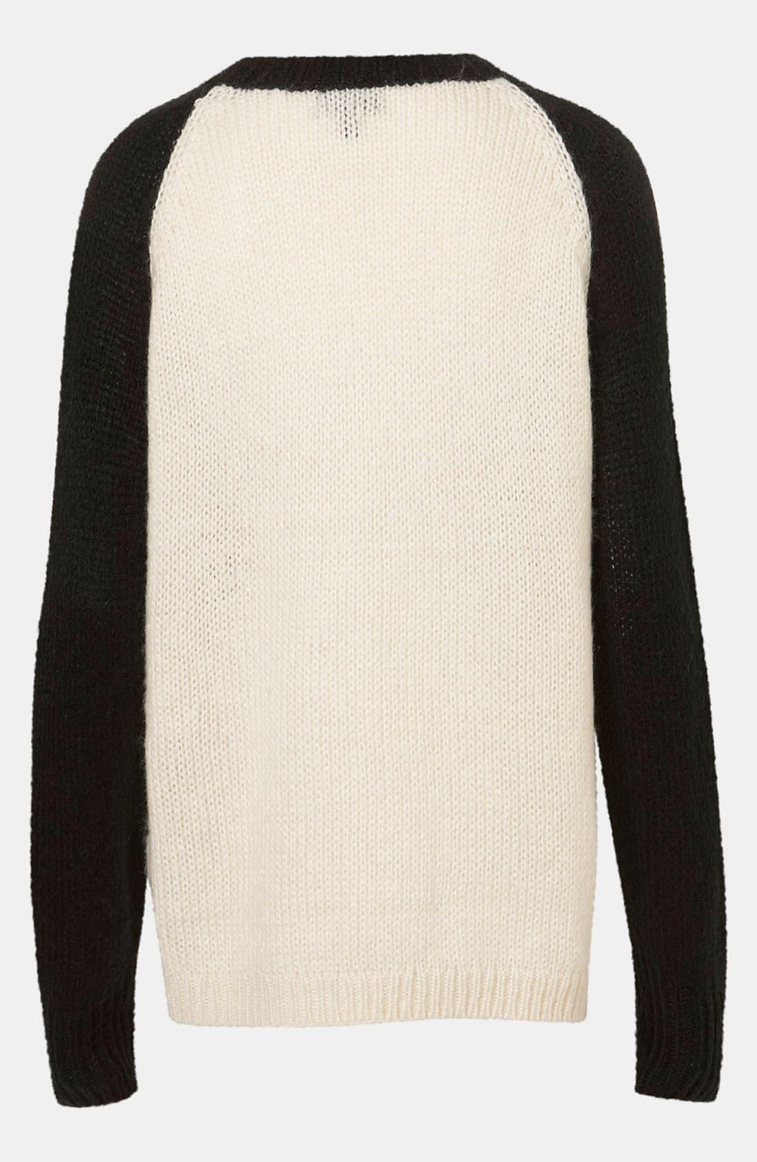 TOPSHOP, 'Eye Dazzler' Sweater, Alternate thumbnail 3, color, 901