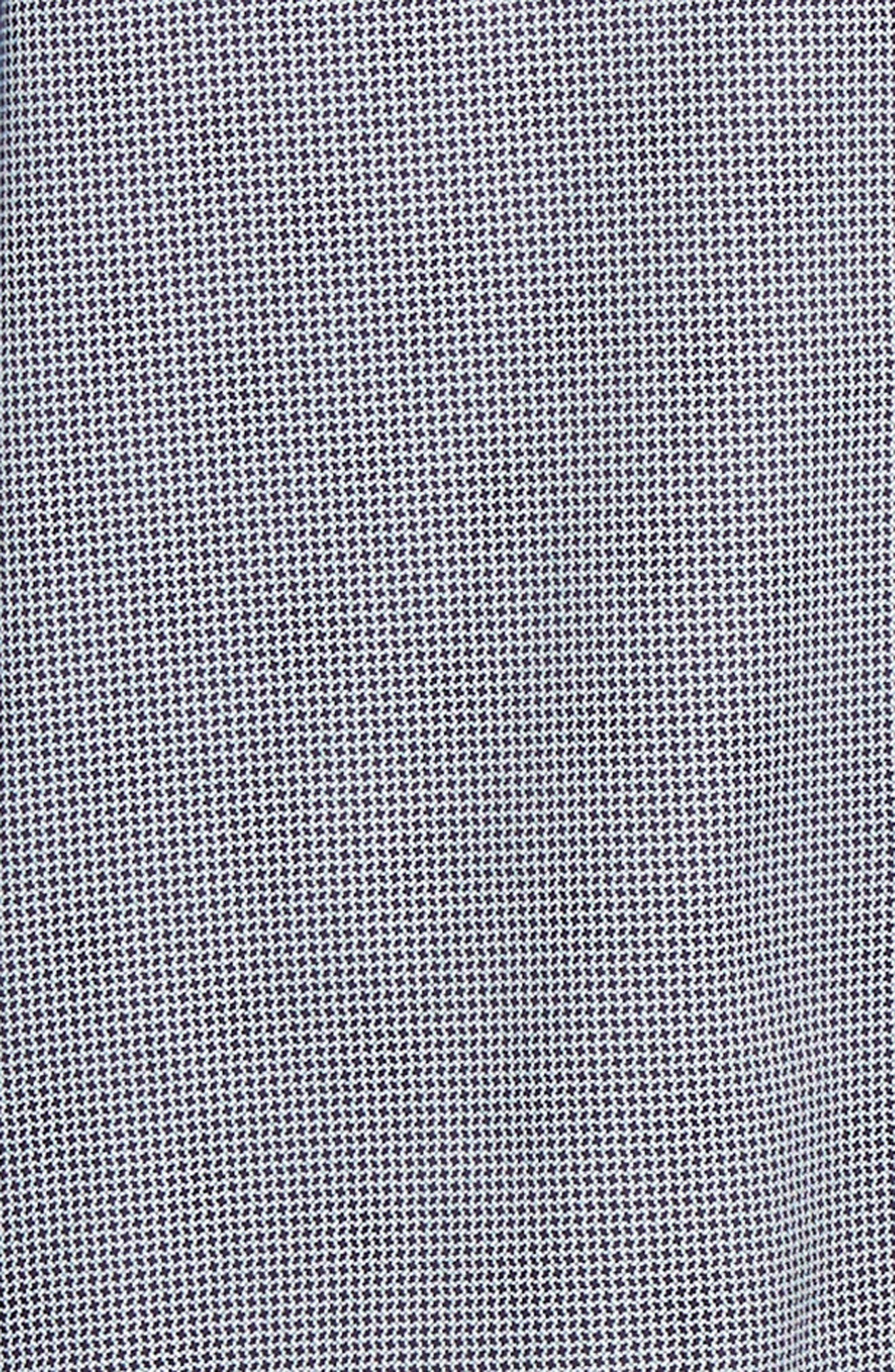 TED BAKER LONDON, Bloosem Slim Fit Print Sport Shirt, Alternate thumbnail 6, color, NAVY