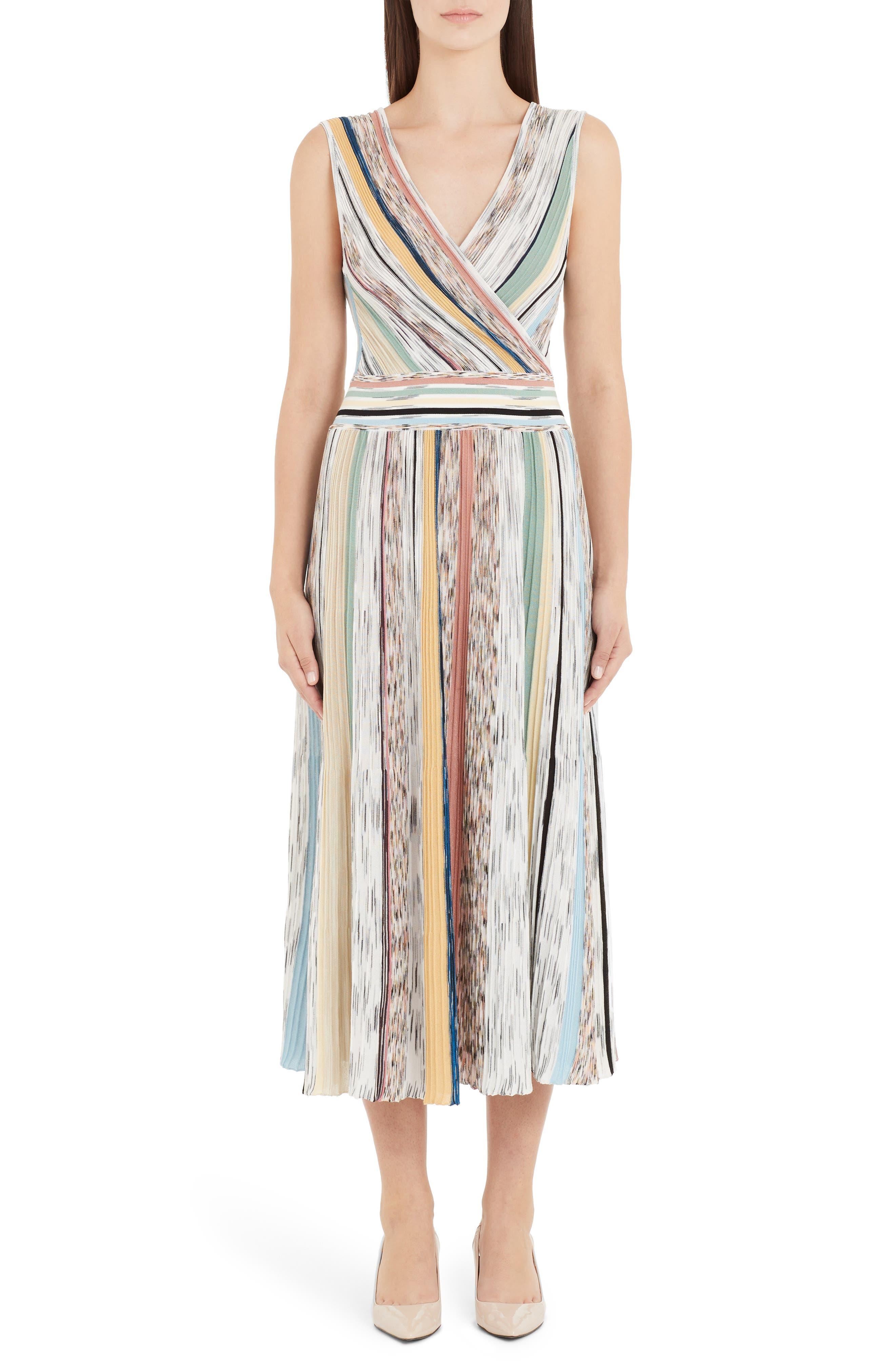 Missoni Reversible Stripe Midi Sweater Dress, US / 40 IT - Beige