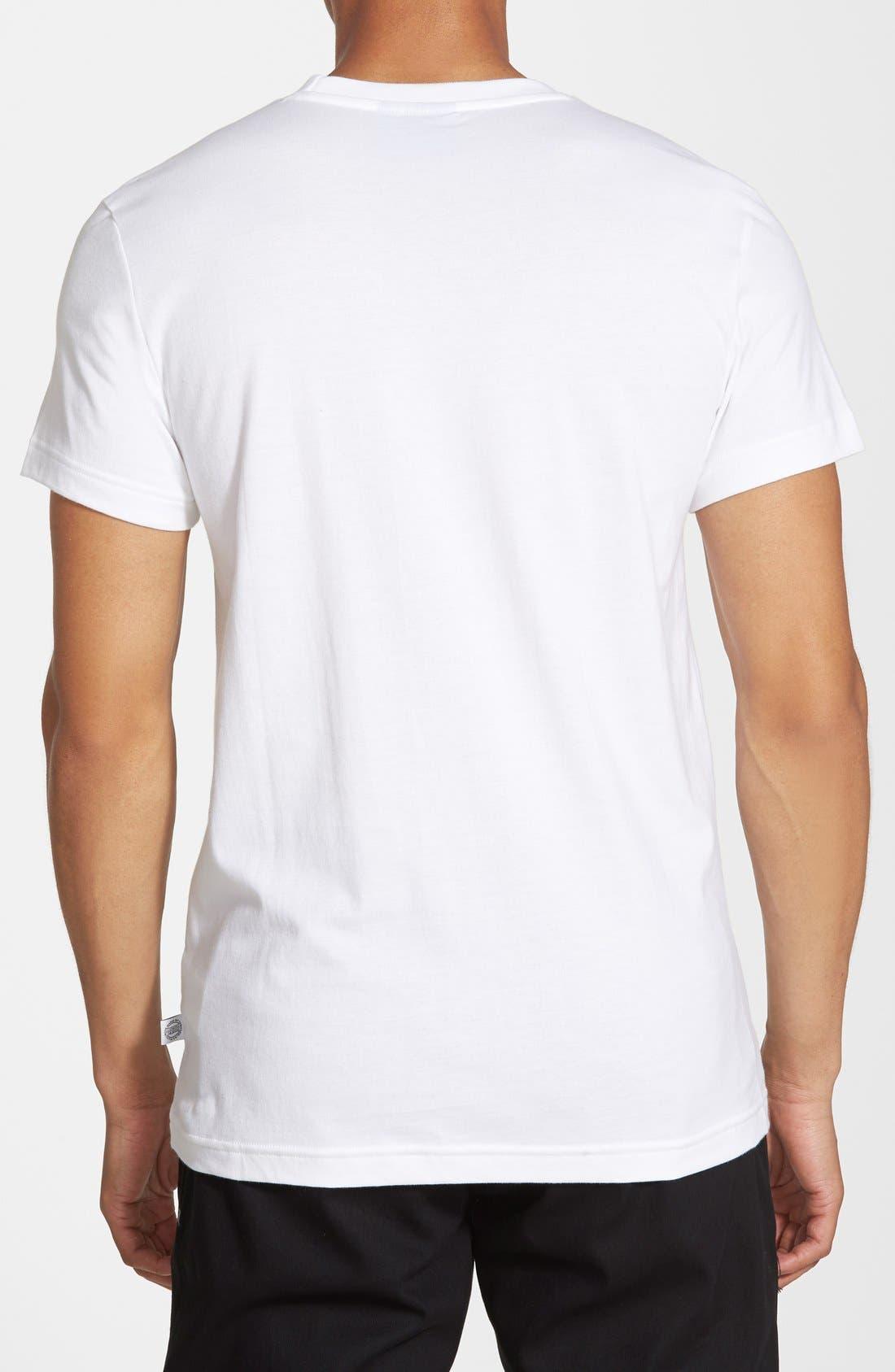 ADIDAS ORIGINALS, 'Island Superstar' Graphic T-Shirt, Alternate thumbnail 3, color, 100