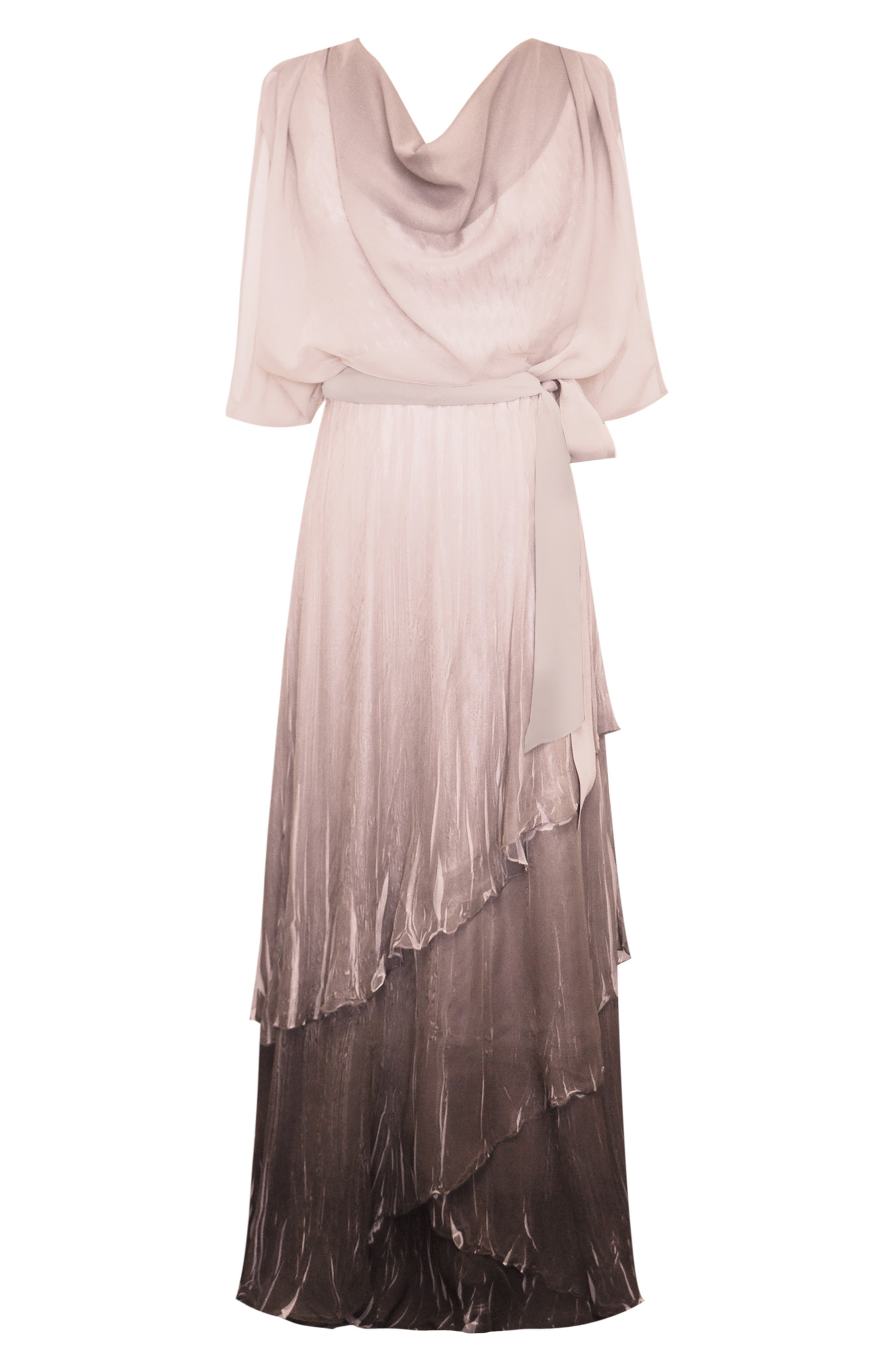 KOMAROV, Drape Chiffon Gown, Alternate thumbnail 4, color, 250