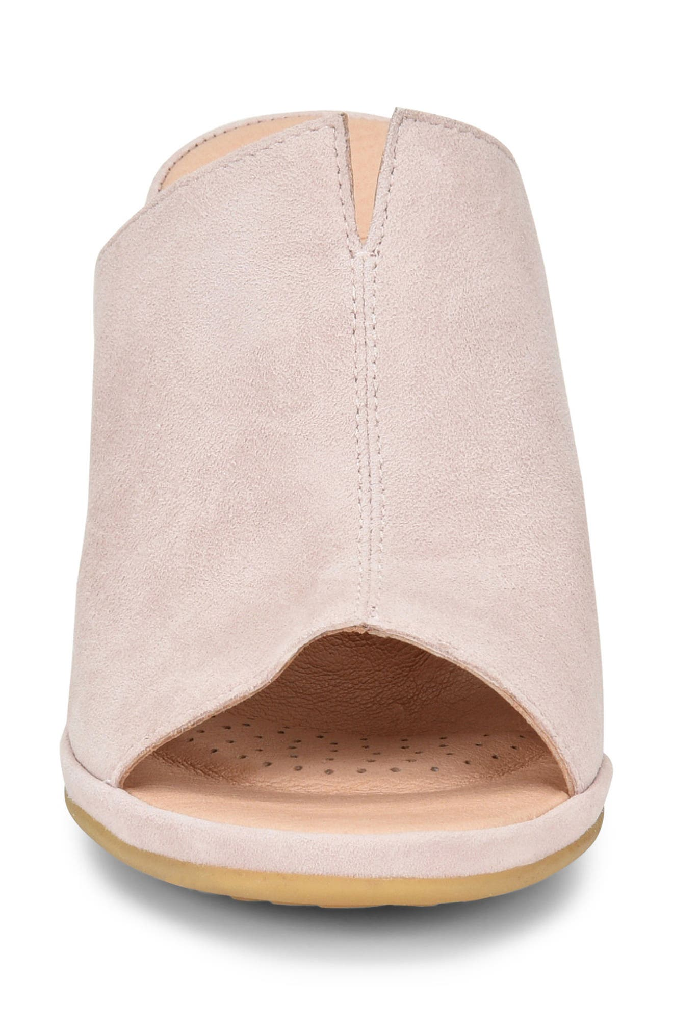 ONO, Hannah Wedge Mule, Alternate thumbnail 4, color, LIGHT PINK SUEDE