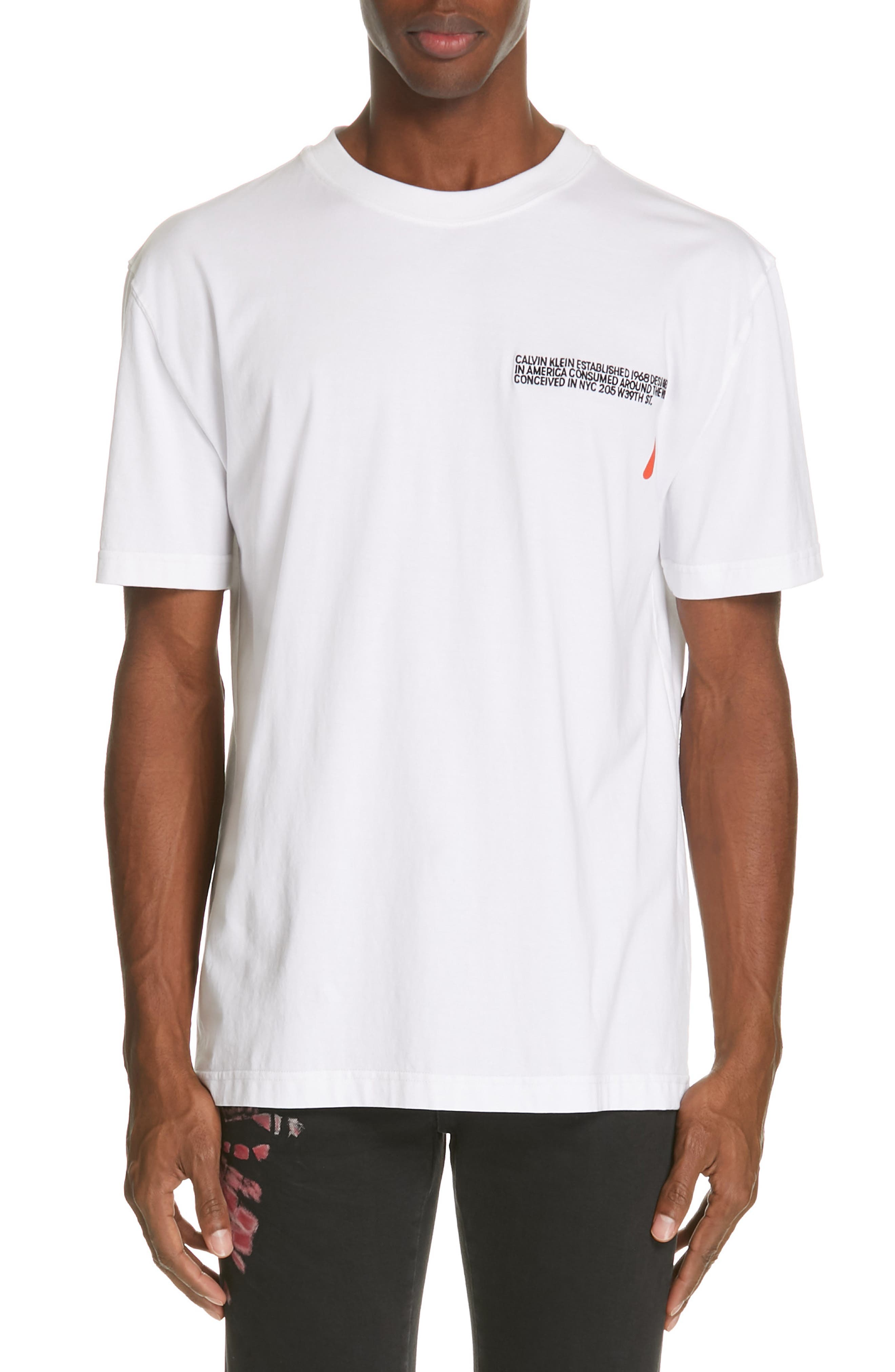 CALVIN KLEIN 205W39NYC, Logo T-Shirt, Main thumbnail 1, color, OPTIC WHITE