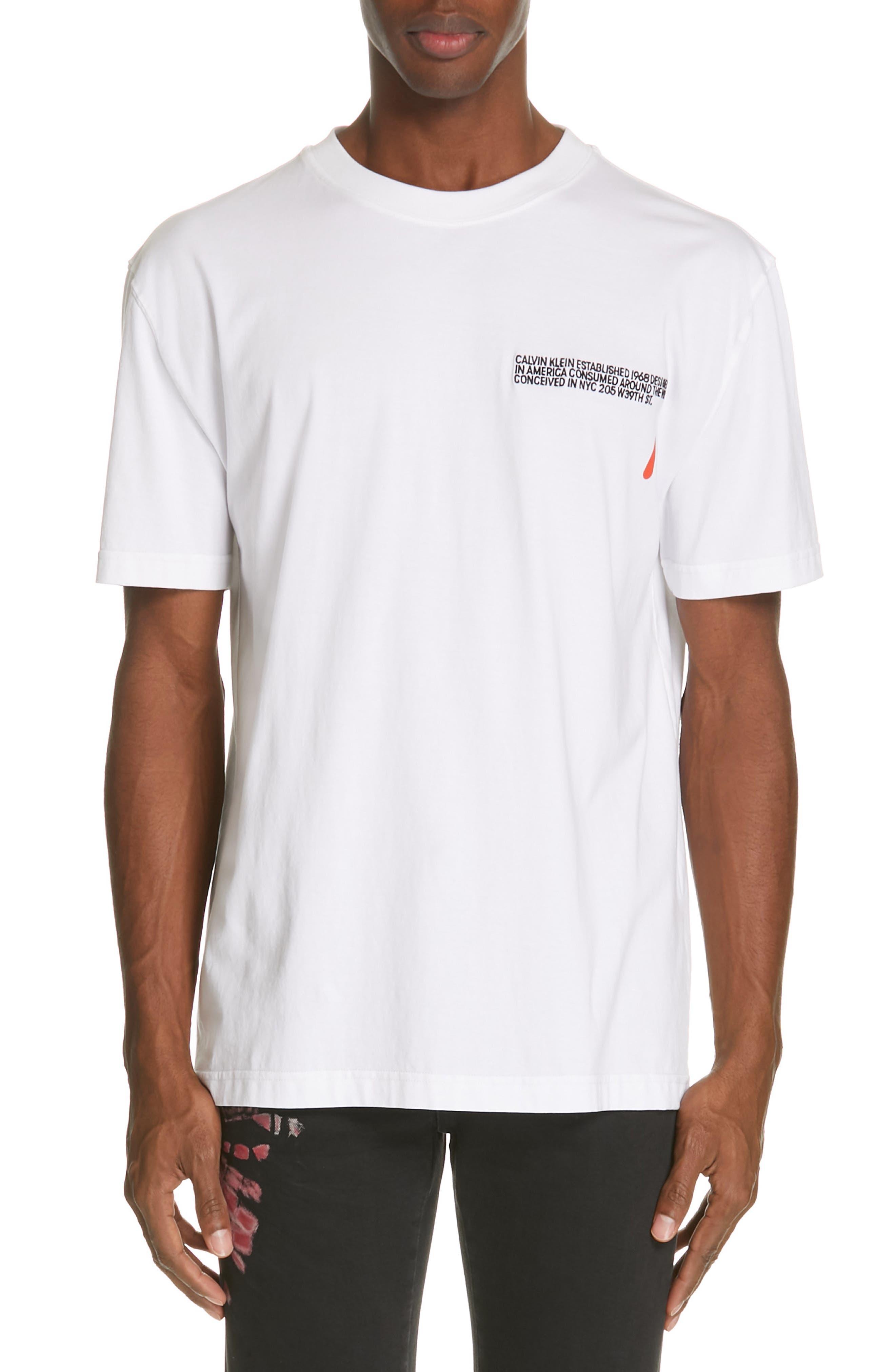 CALVIN KLEIN 205W39NYC Logo T-Shirt, Main, color, OPTIC WHITE