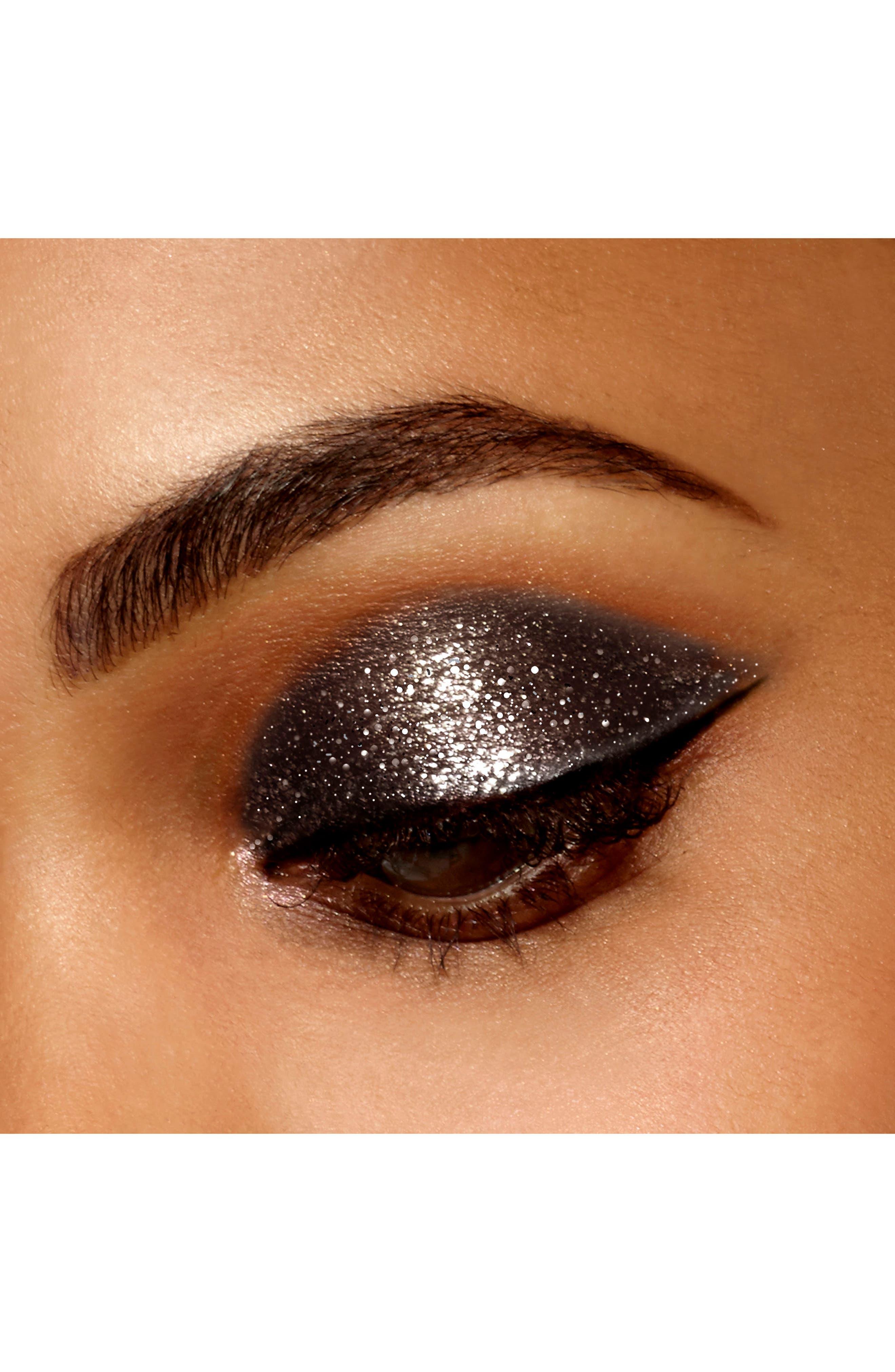 STILA, Magnificent Metals Glitter & Glow Liquid Eyeshadow, Alternate thumbnail 3, color, MOLTEN MIDNIGHT