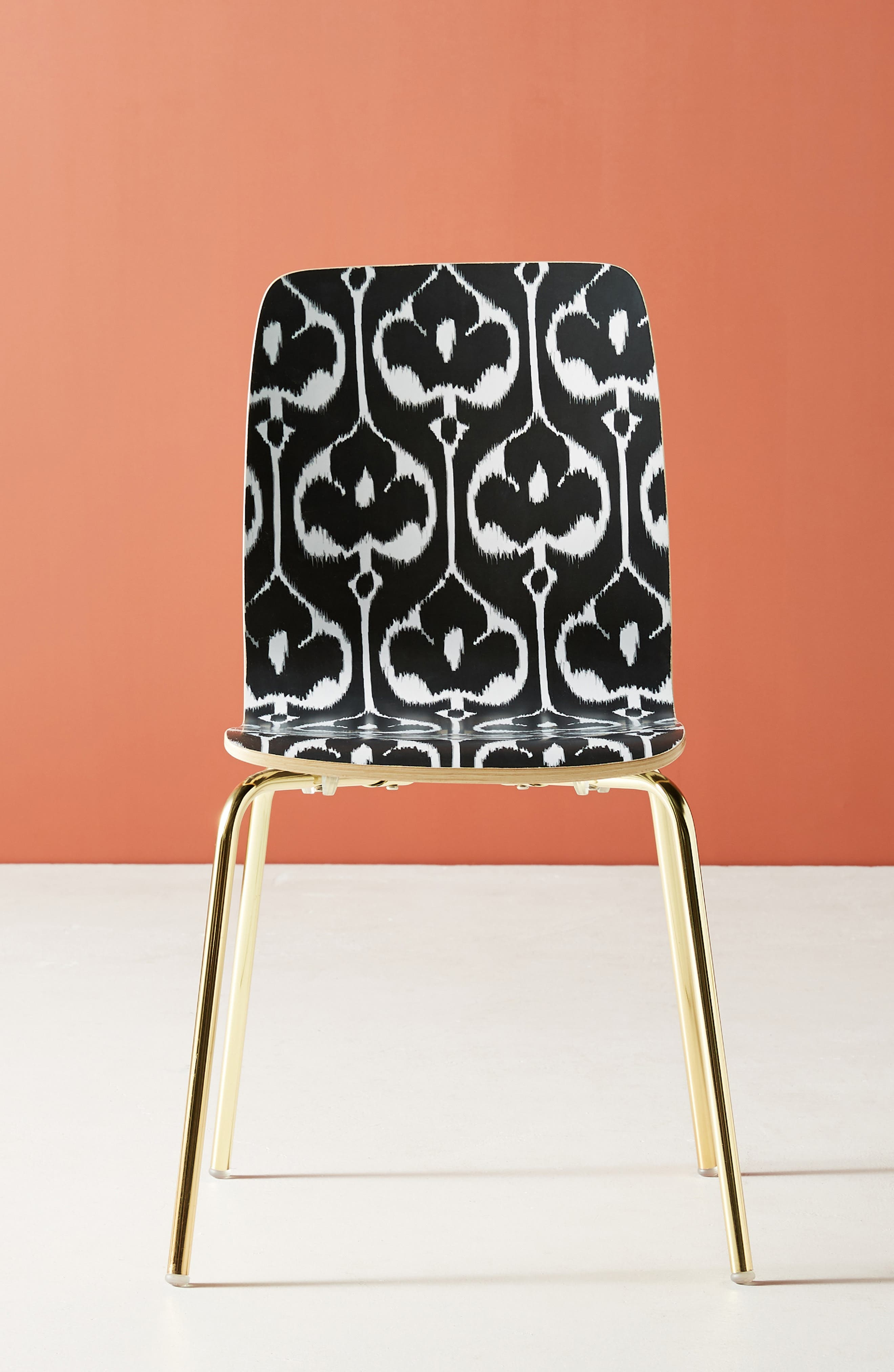 ANTHROPOLOGIE, Ikat Tamsin Dining Chair, Alternate thumbnail 2, color, BLACK AND WHITE