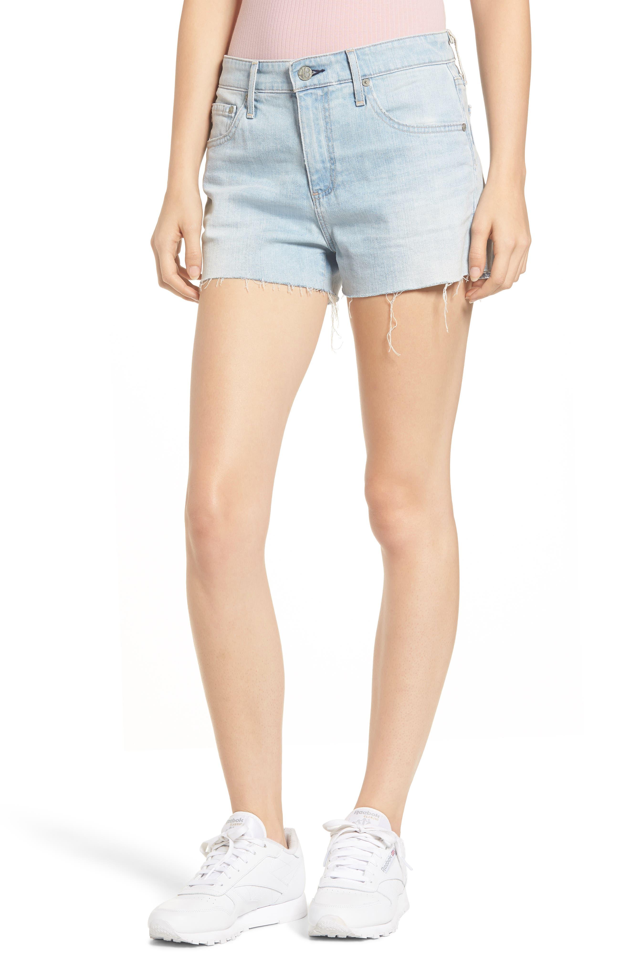 AG The Bryn High Waist Cutoff Denim Shorts, Main, color, 28Y ALTERED