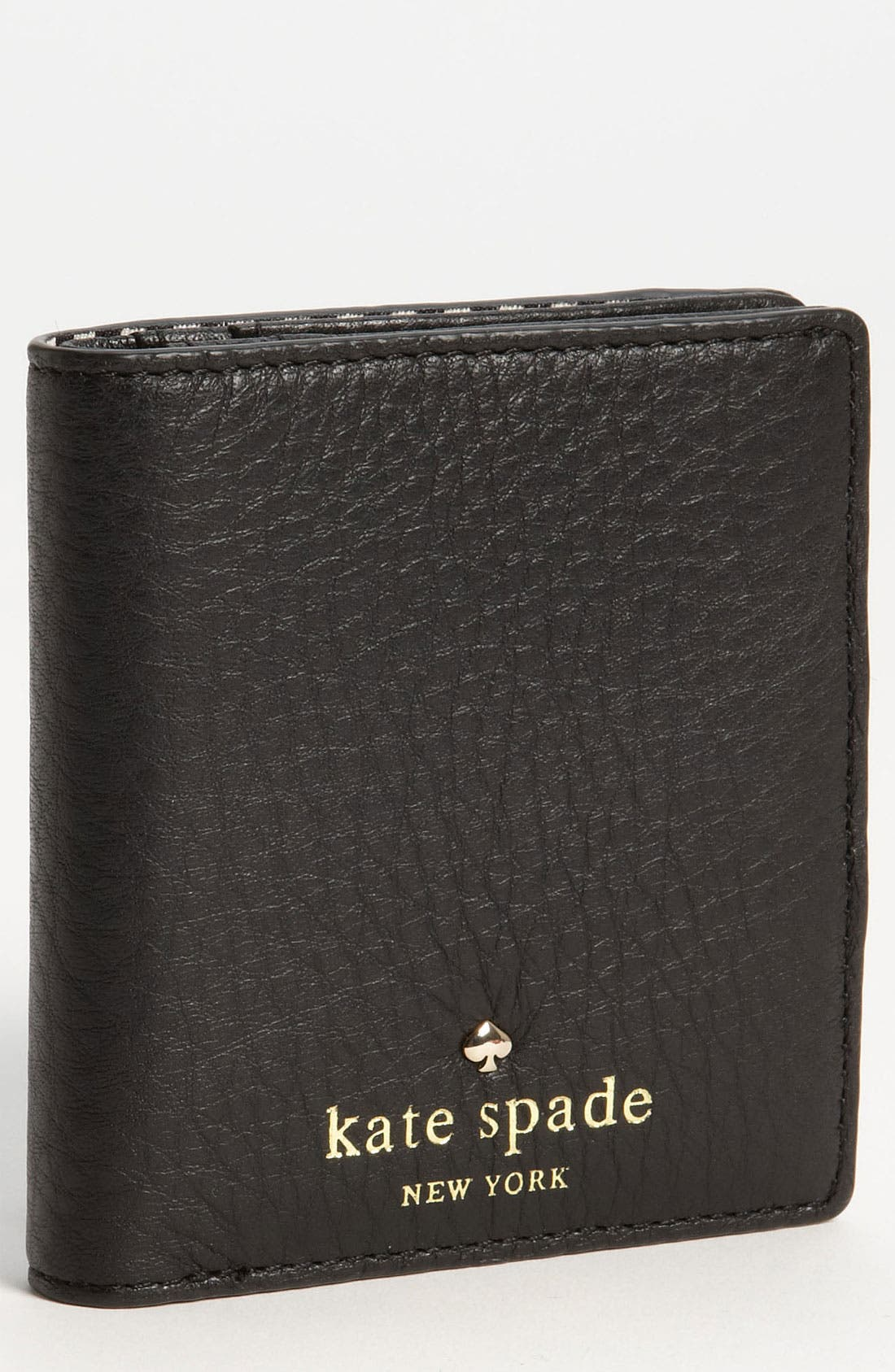 KATE SPADE NEW YORK, 'cobble hill - little stacy' wallet, Main thumbnail 1, color, 001