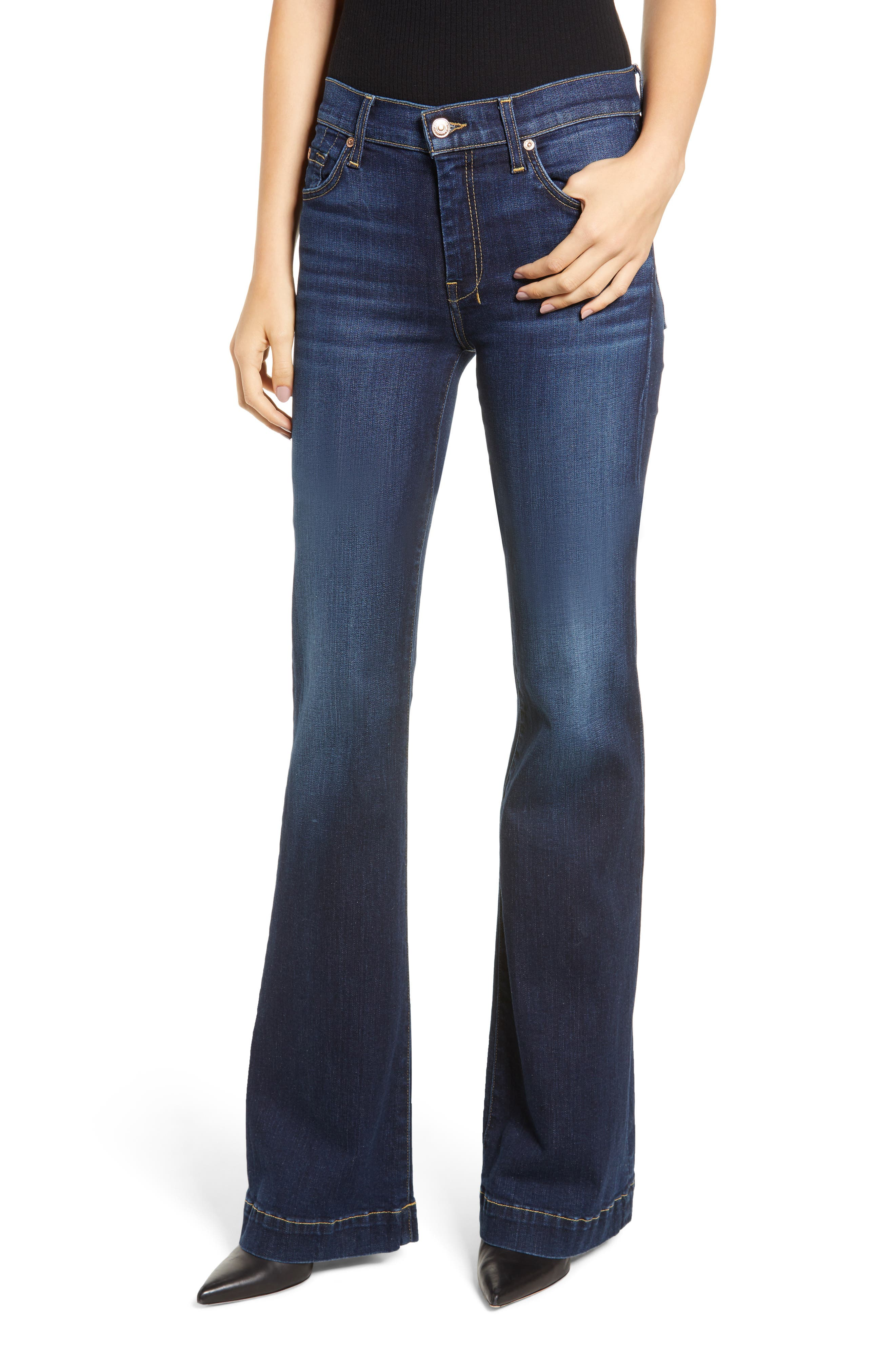 7 FOR ALL MANKIND<SUP>®</SUP> Dojo Wide Leg Jeans, Main, color, AUTHENTIC FATE