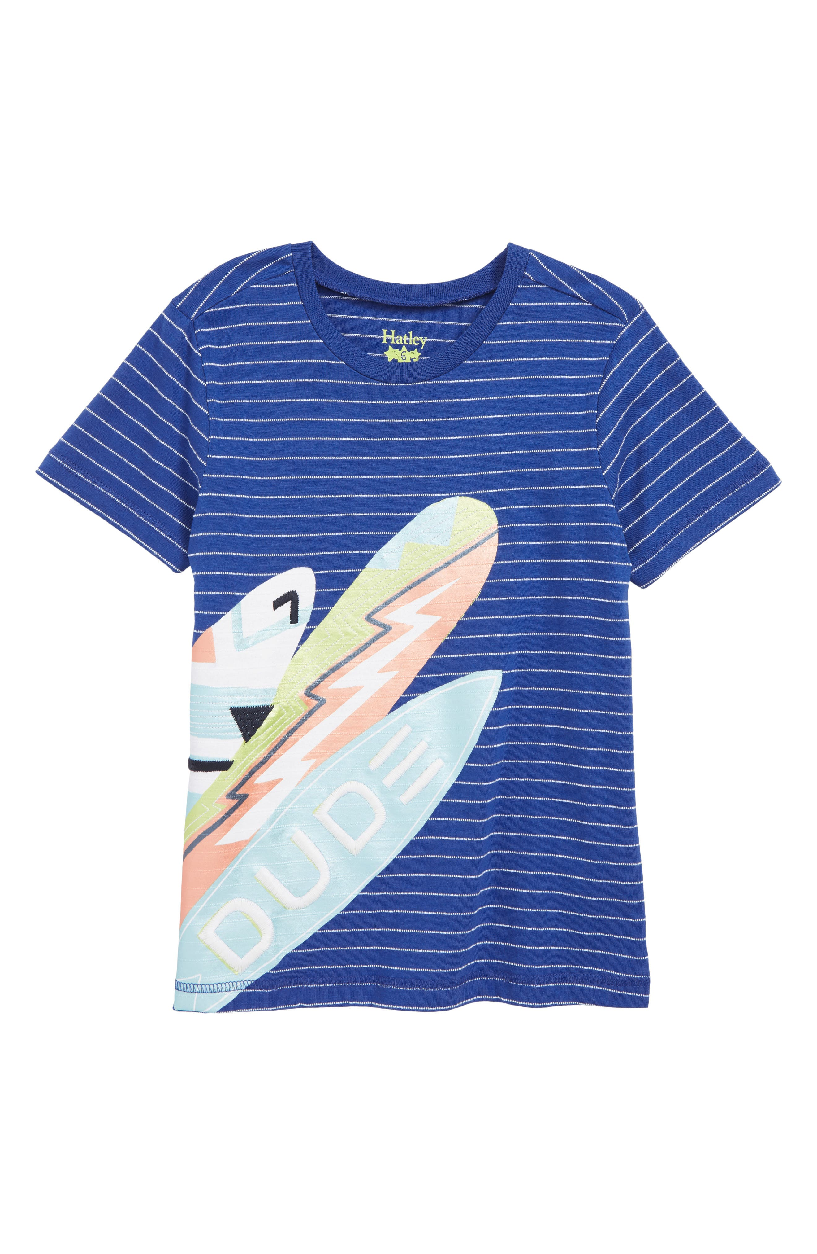 HATLEY Surf Dude Graphic T-Shirt, Main, color, BLUE