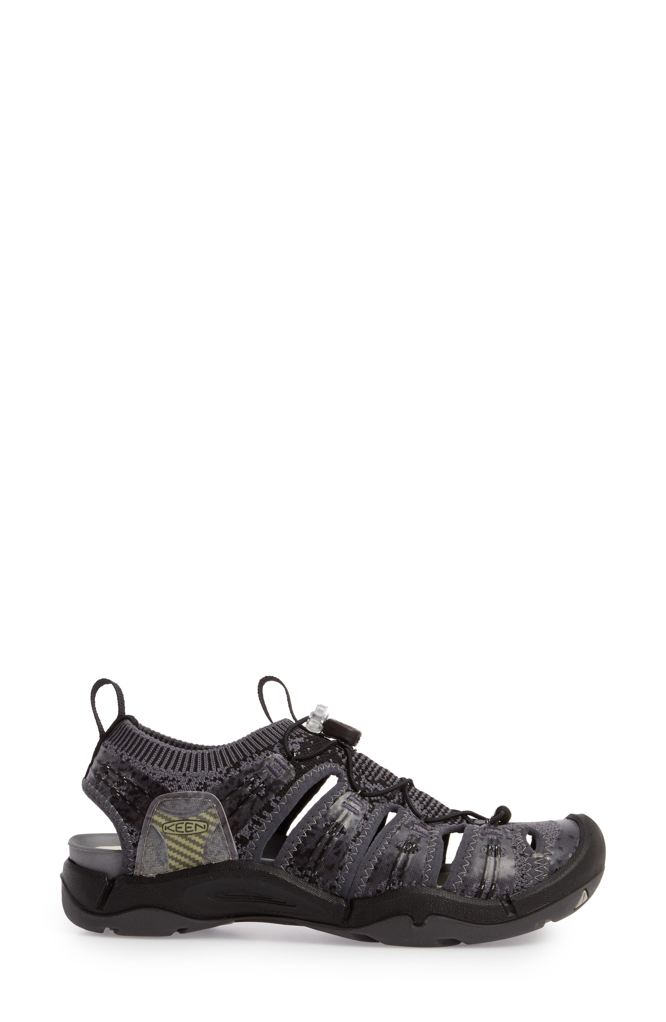 KEEN, EVOFIT One Sandal, Alternate thumbnail 3, color, HEATHERED BLACK/ MAGNET