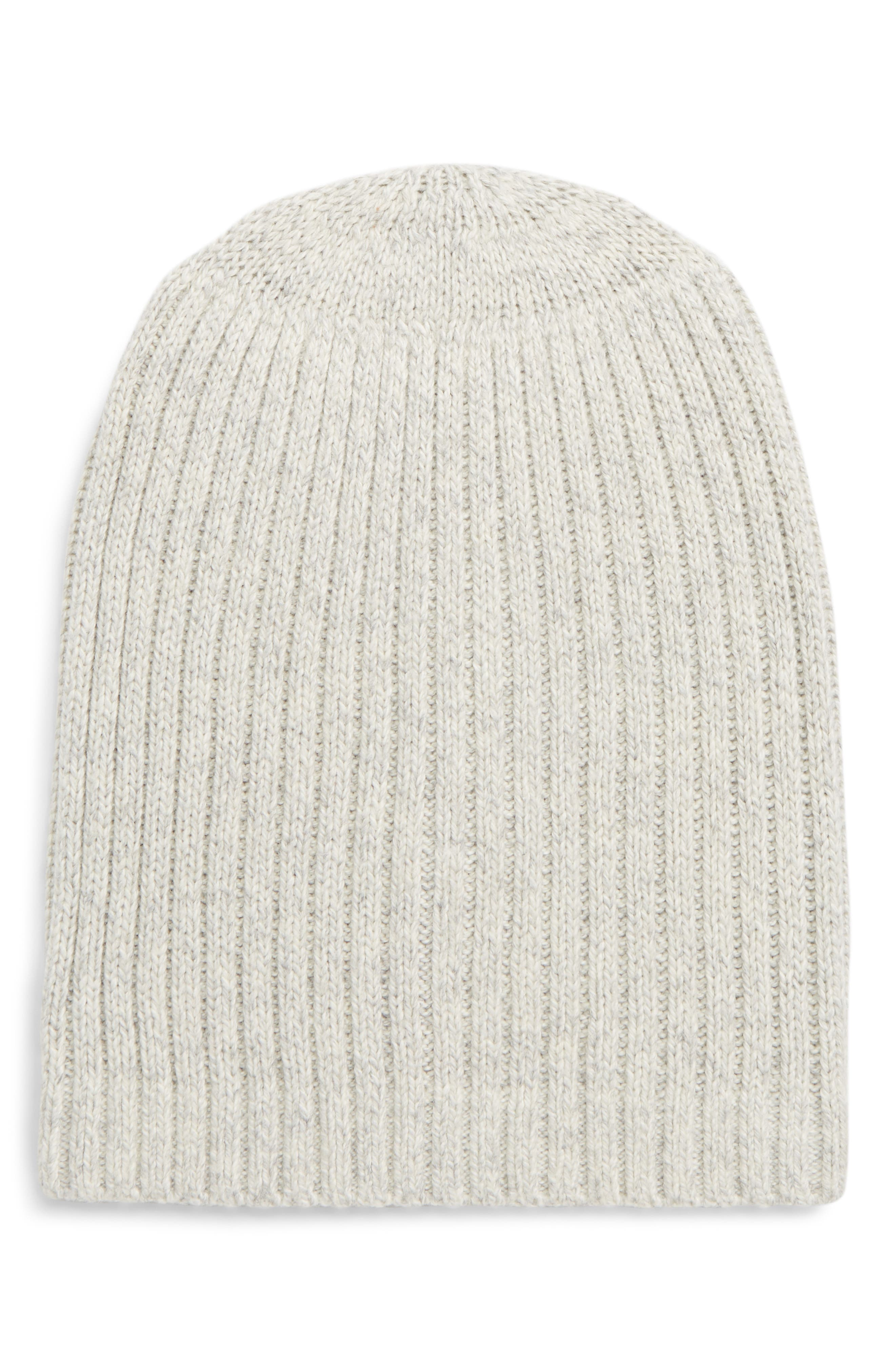 MADEWELL Perfect Textured Rib Beanie, Main, color, 020