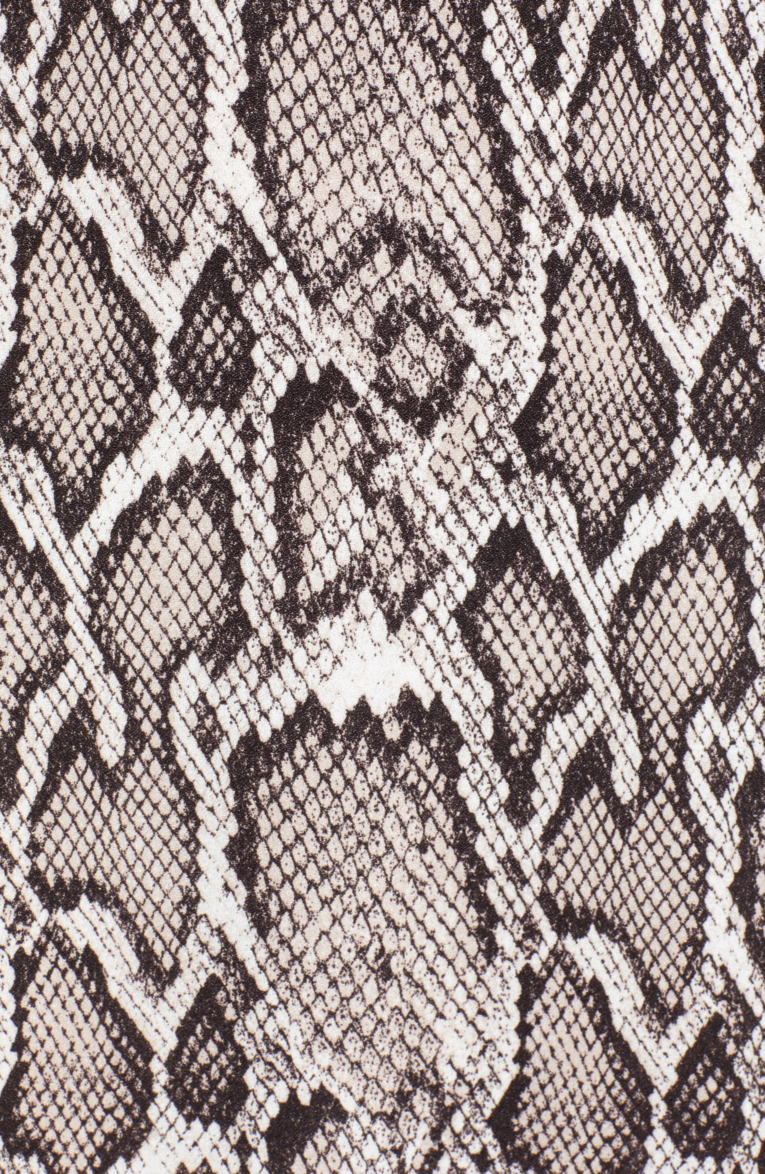 AFRM, Lala Midi Dress, Alternate thumbnail 6, color, SNAKESKIN