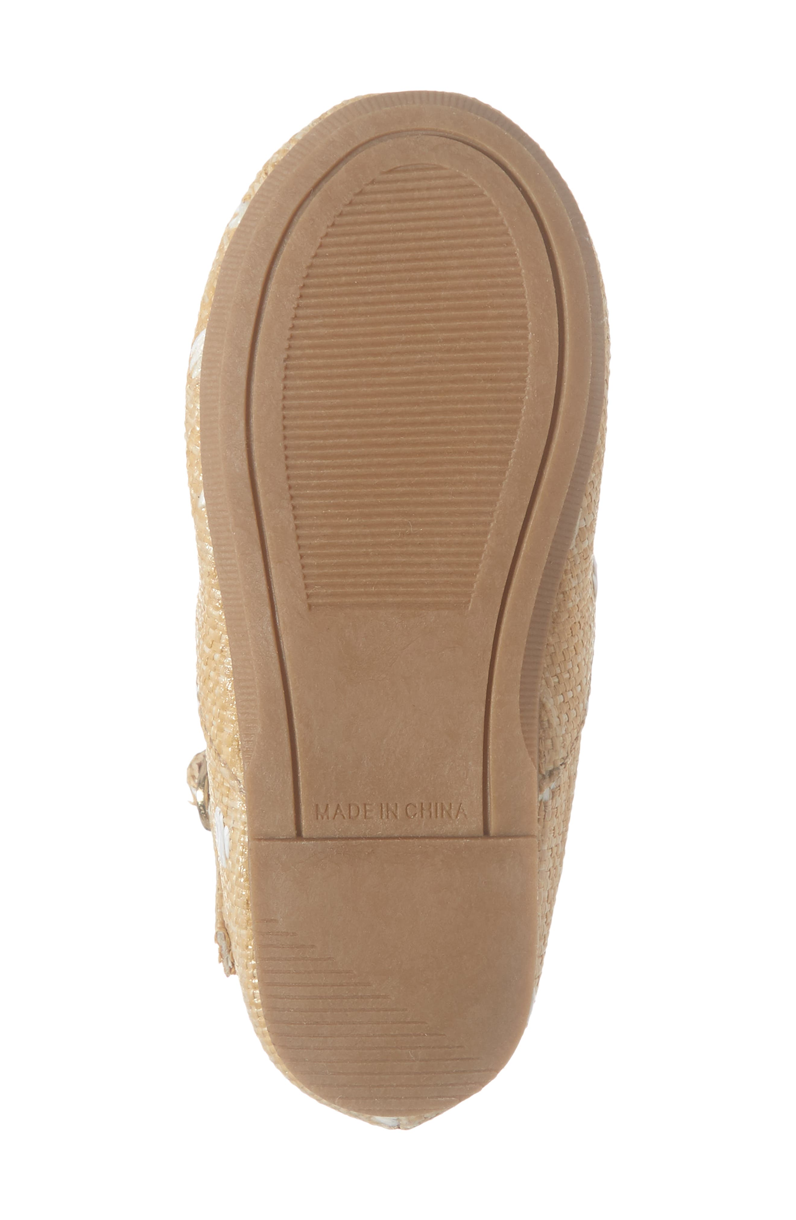 SOMETHING NAVY, Brighton Raffia Mary Jane Flat, Alternate thumbnail 6, color, NATURAL FABRIC
