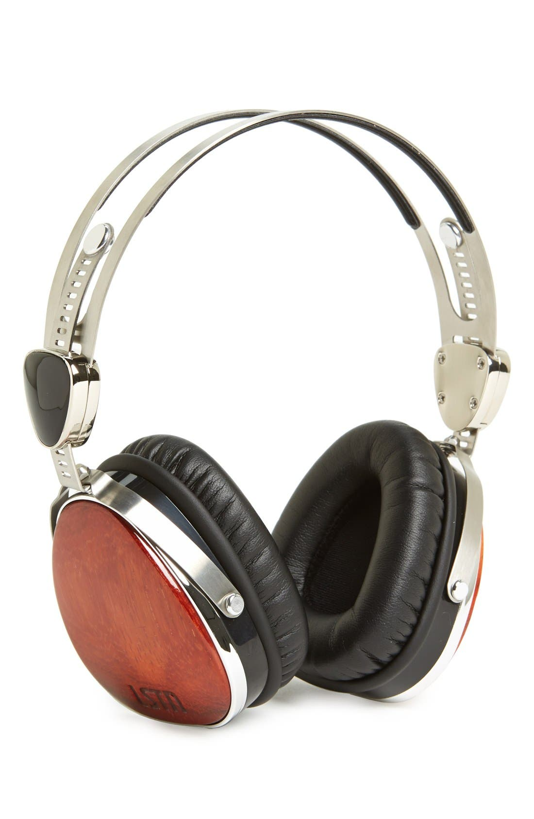 LSTN, 'Troubador' Cherry Wood Headphones, Main thumbnail 1, color, 200