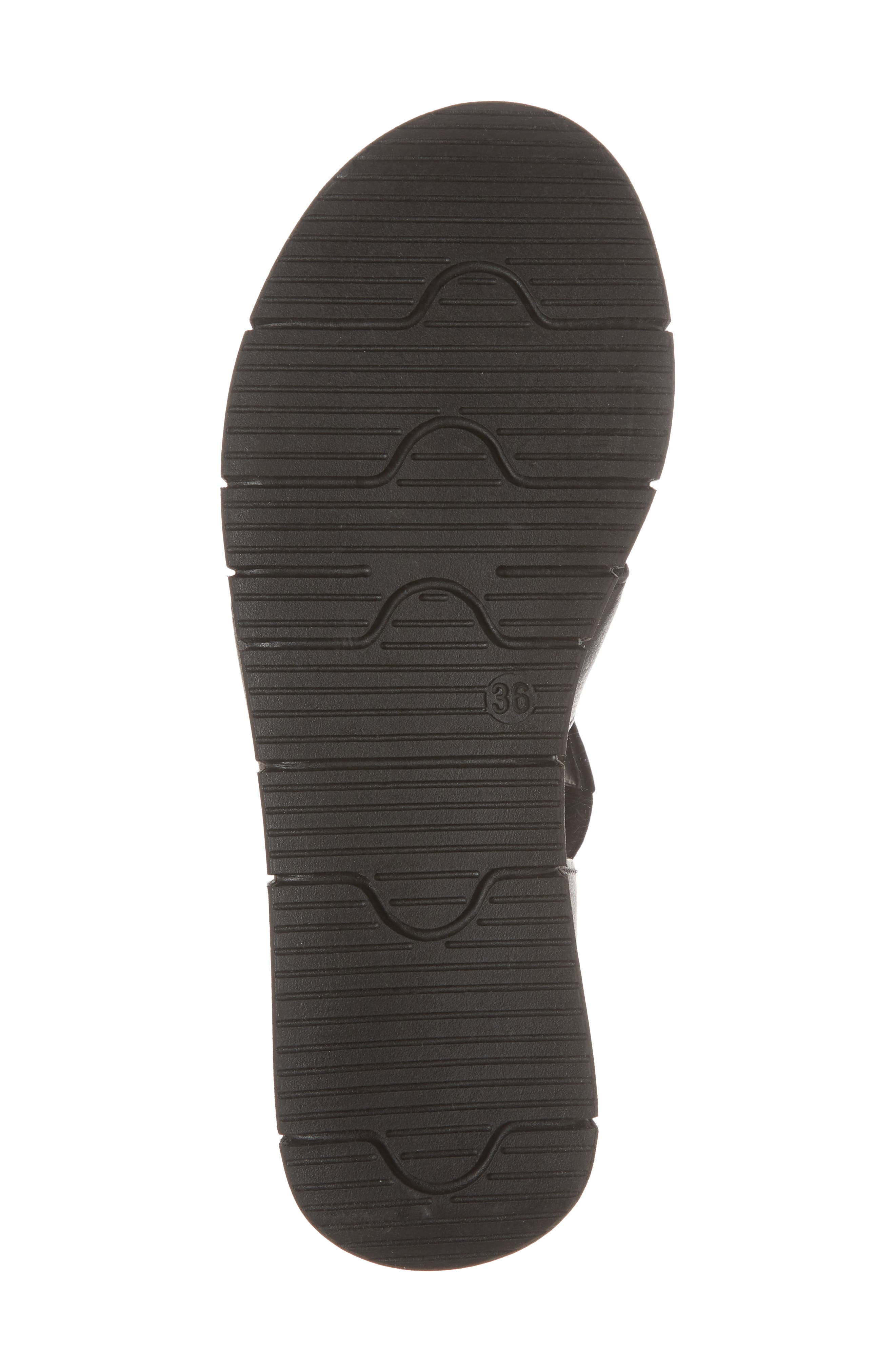 BOS. & CO., Piper Wedge Sandal, Alternate thumbnail 6, color, BLACK SAUVAGE LEATHER