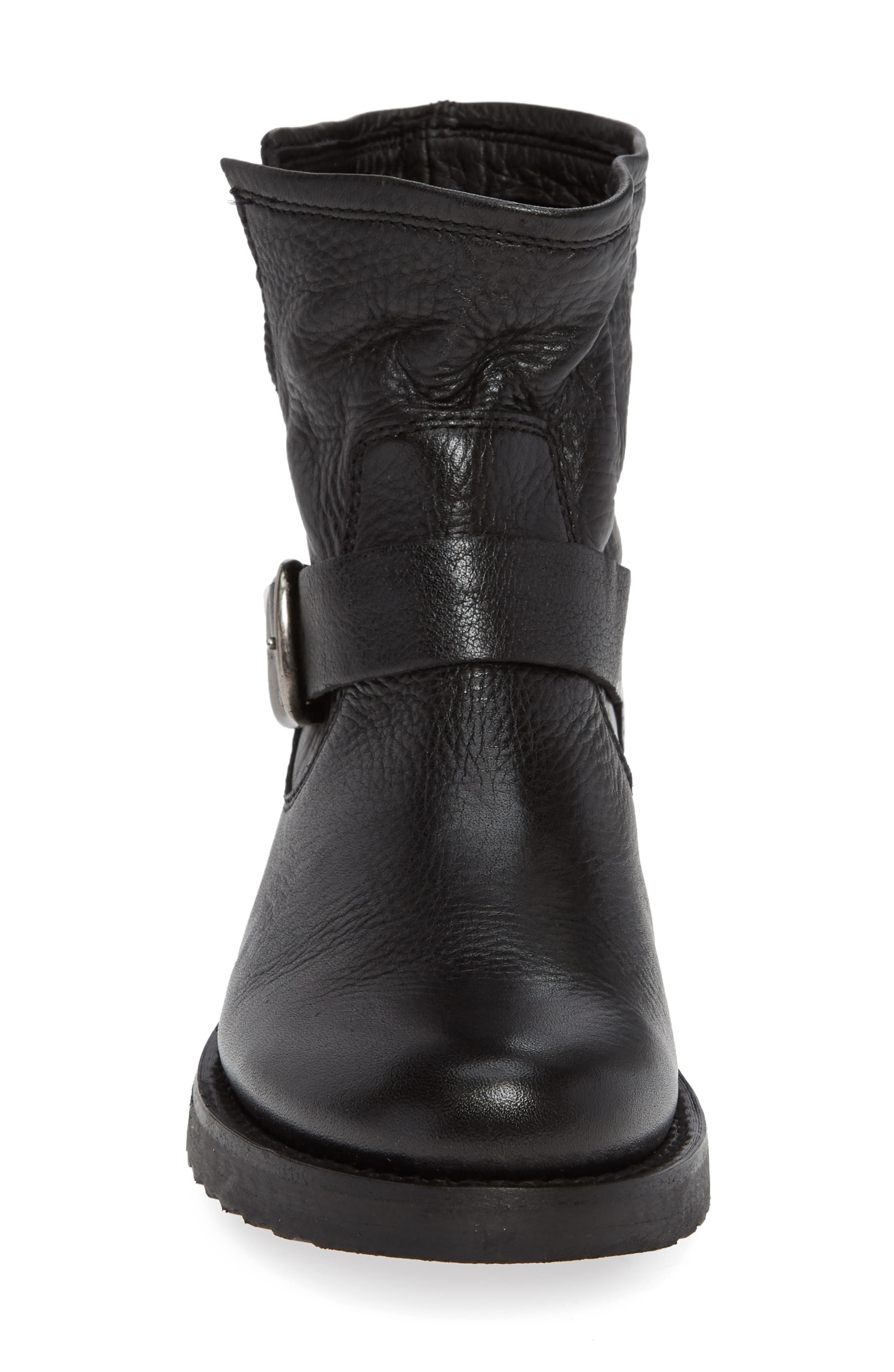 FRYE, Veronica Bootie, Alternate thumbnail 4, color, BLACK LEATHER