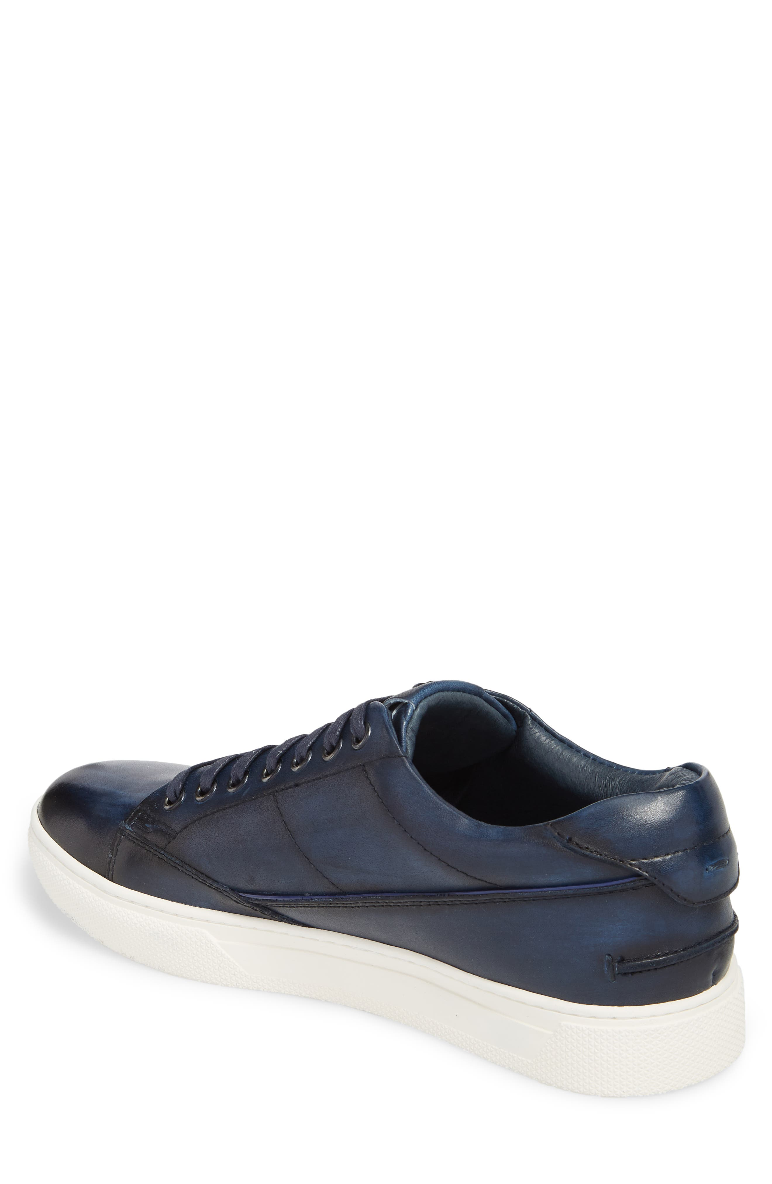 JUMP, Sweeney Low Top Sneaker, Alternate thumbnail 2, color, NAVY LEATHER