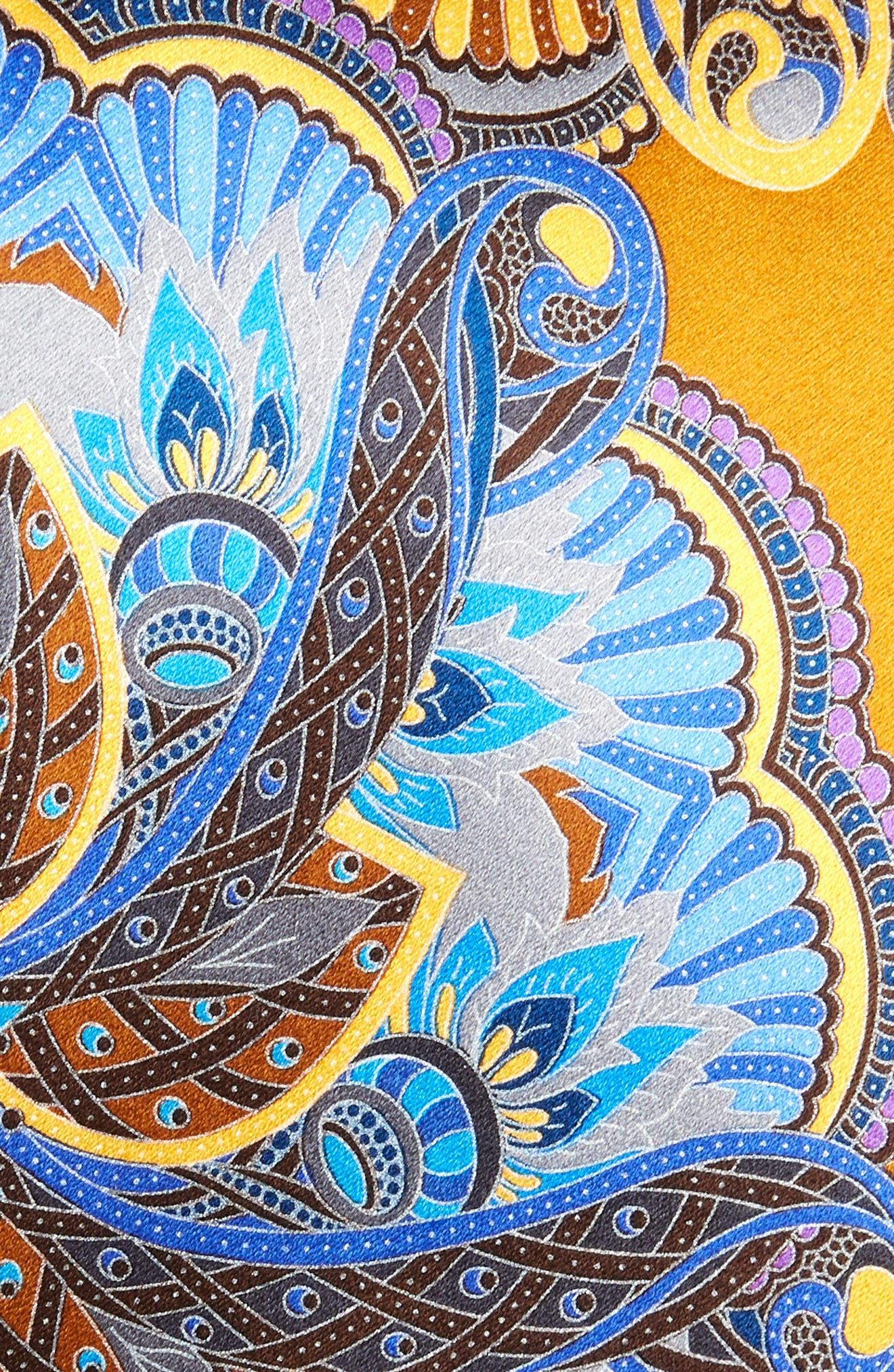 ERMENEGILDO ZEGNA, Quindici Silk Tie, Alternate thumbnail 2, color, NAVY