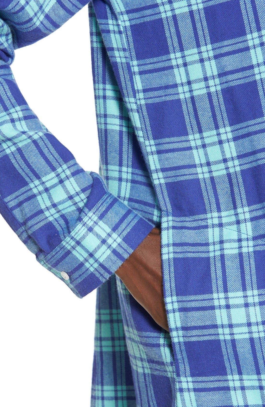 BP. UNDERCOVER, Flannel Night Shirt, Alternate thumbnail 3, color, 440