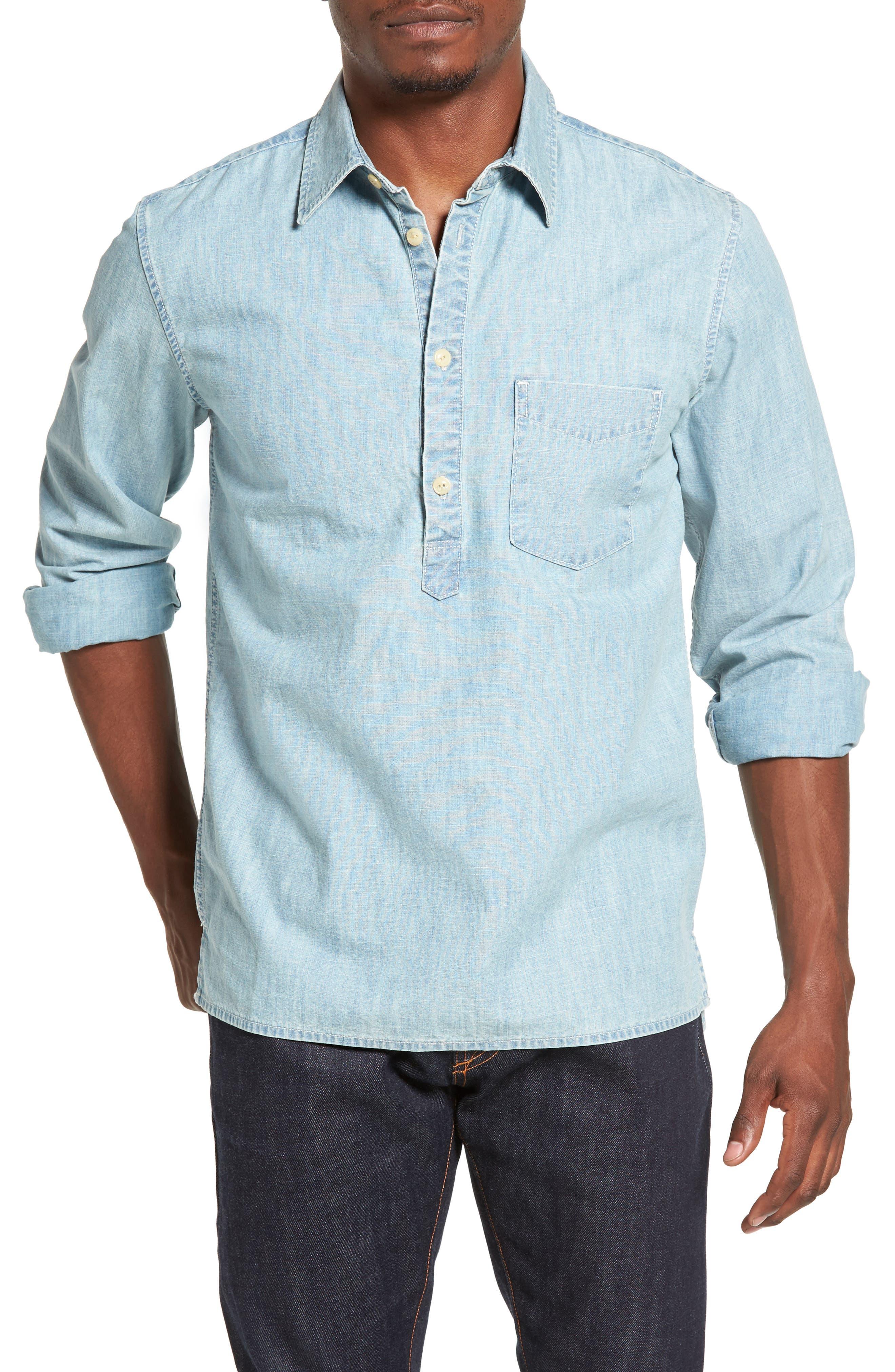 JEAN SHOP, Ethan Chambray Shirt, Main thumbnail 1, color, 470