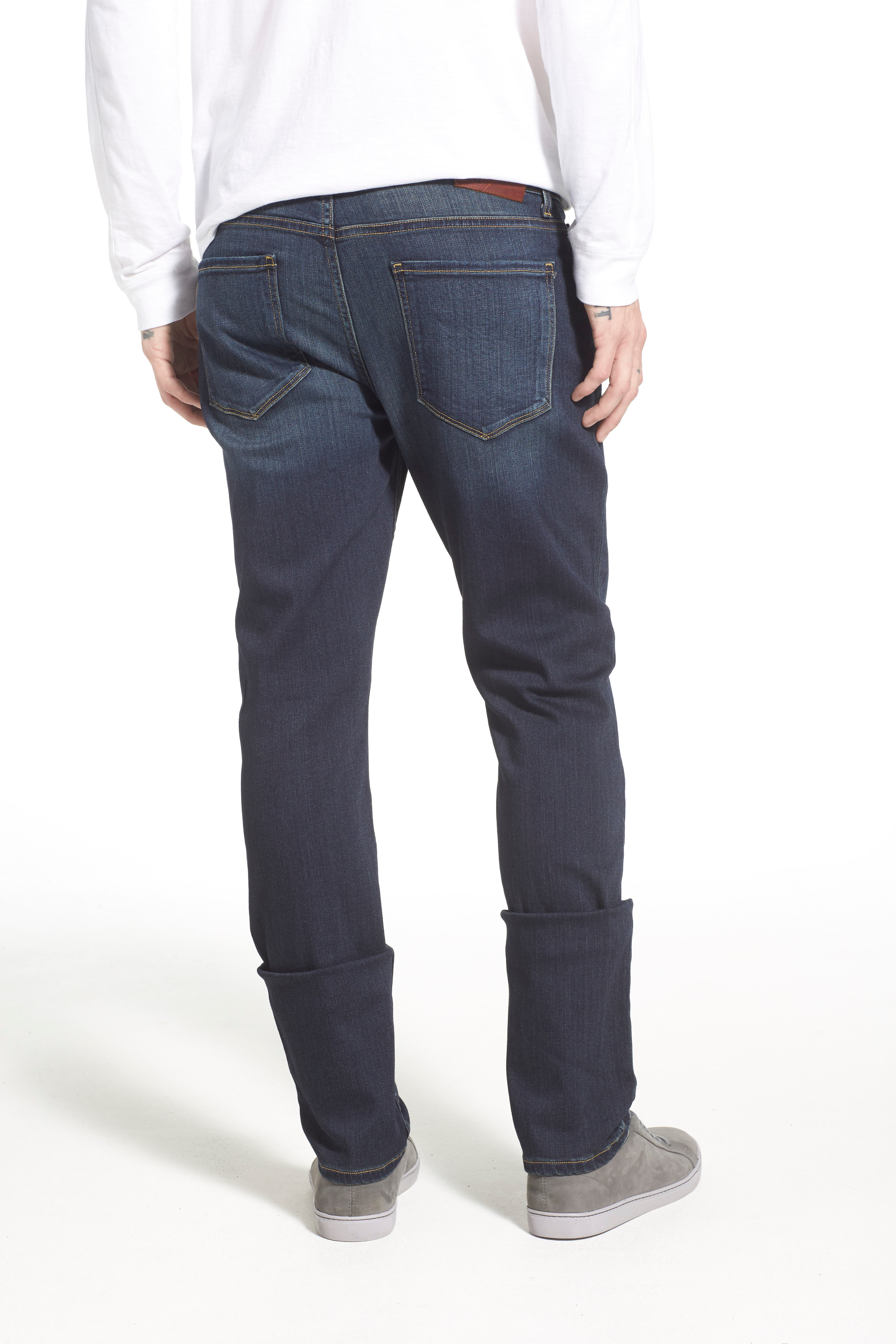PAIGE, Lennox Slim Fit Jeans, Alternate thumbnail 3, color, RIGBY