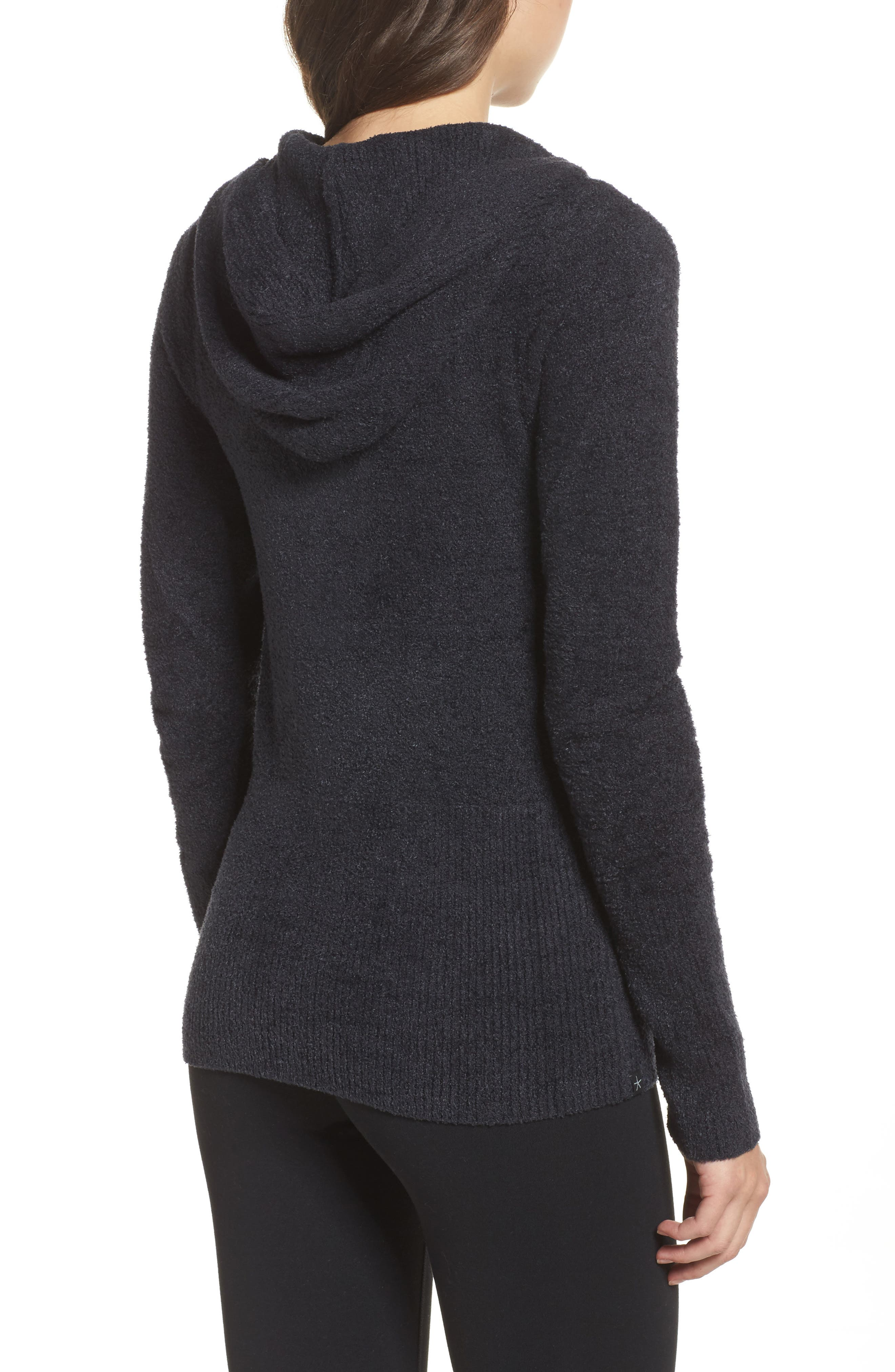 BAREFOOT DREAMS<SUP>®</SUP>, Cozychic Lite<sup>®</sup> Lounge Hoodie, Alternate thumbnail 2, color, BLACK