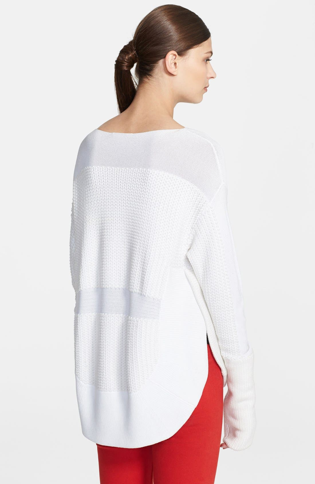 HELMUT LANG, Textured Inlay Sweater, Alternate thumbnail 4, color, 157