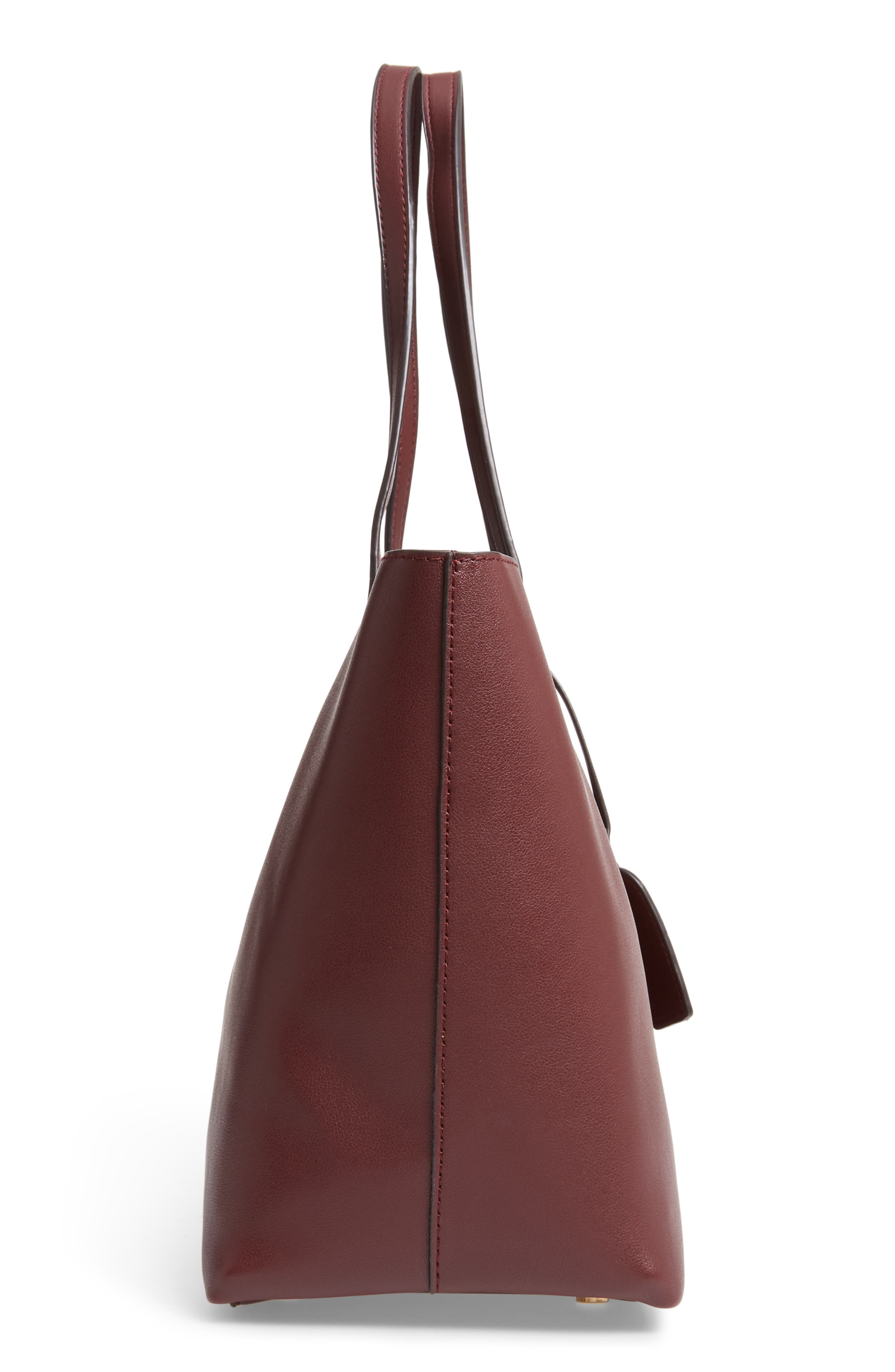 SOLE SOCIETY, Zeda Faux Leather Tote, Alternate thumbnail 6, color, 930