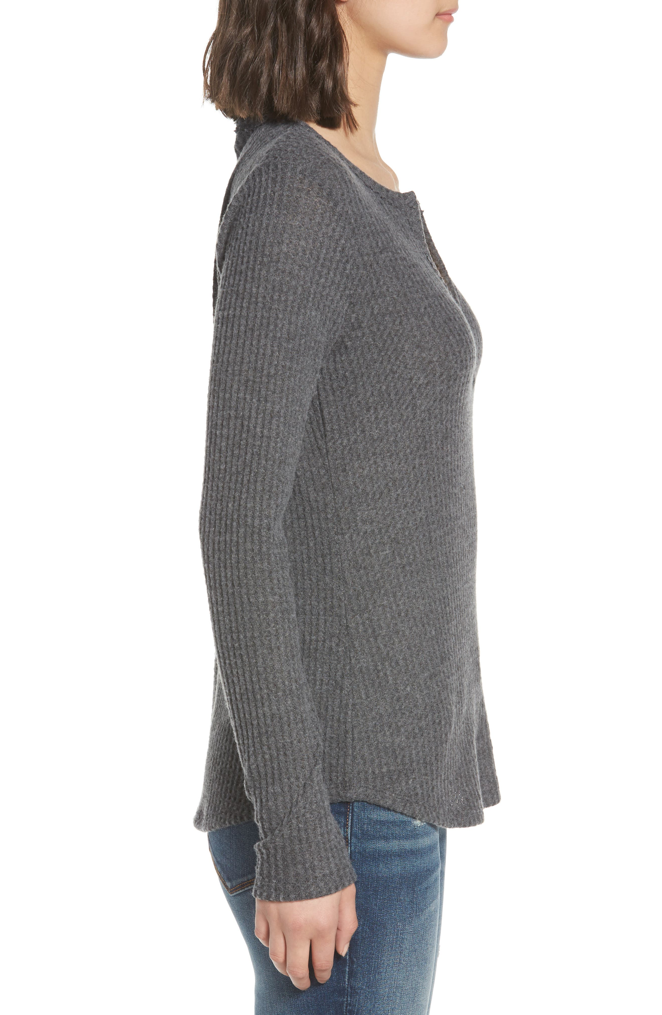 SOCIALITE, Thermal Henley Top, Alternate thumbnail 4, color, 034